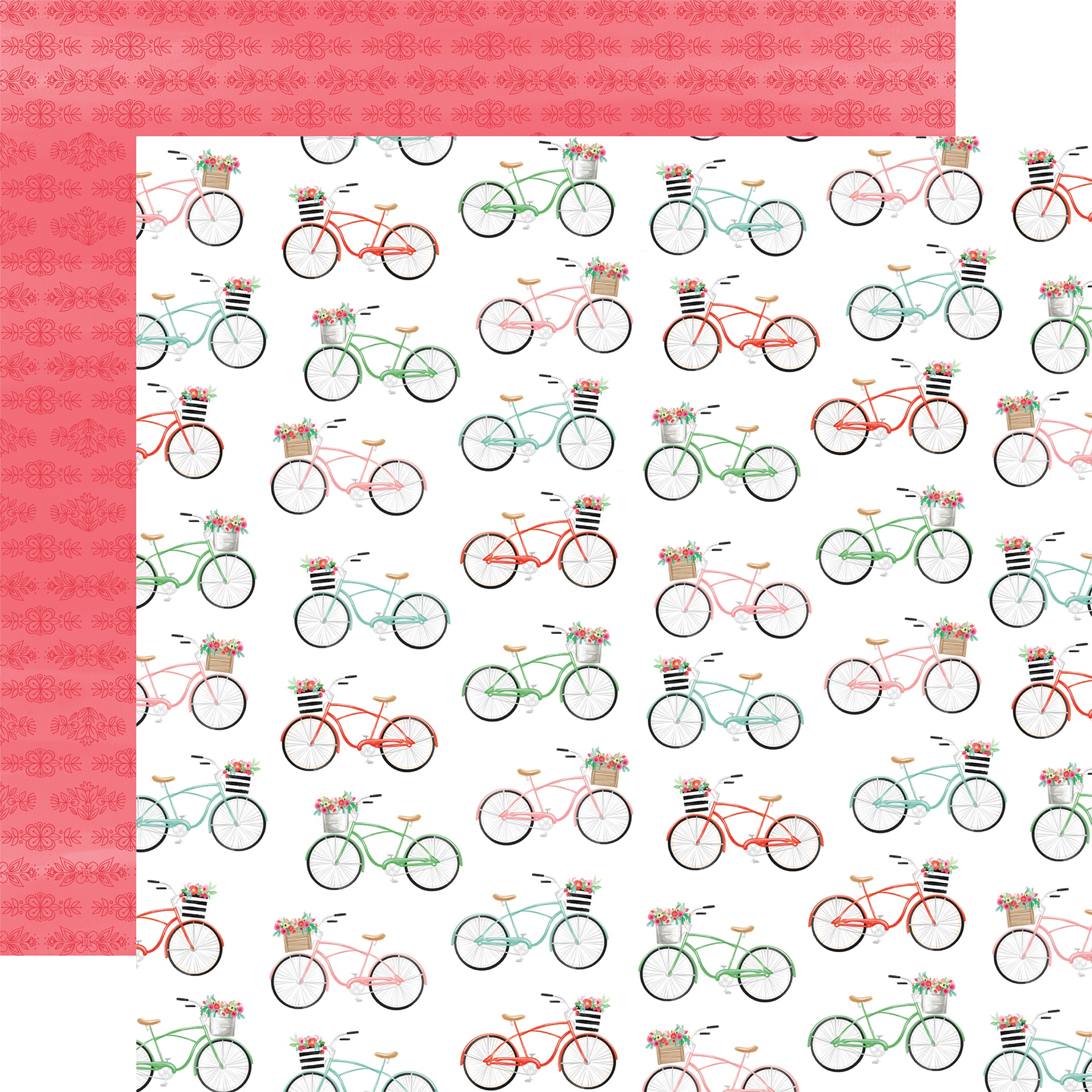Summer Market Double-Sided Cardstock 12X12-Bikes