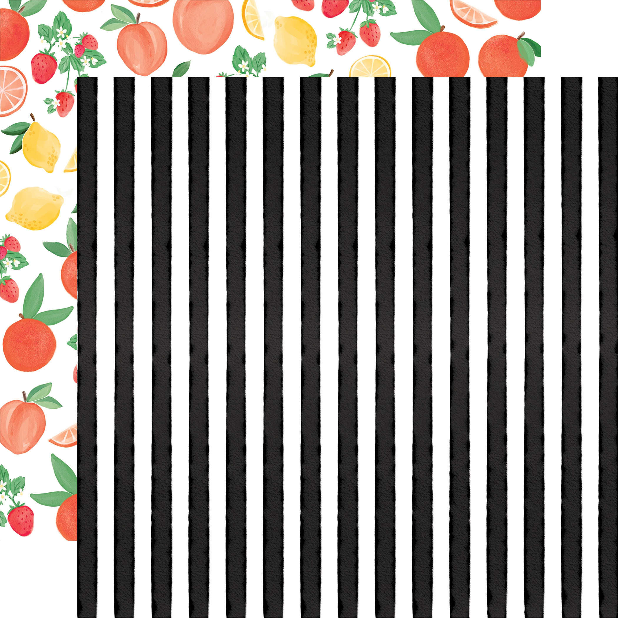Summer Market Double-Sided Cardstock 12X12-Market Stripe