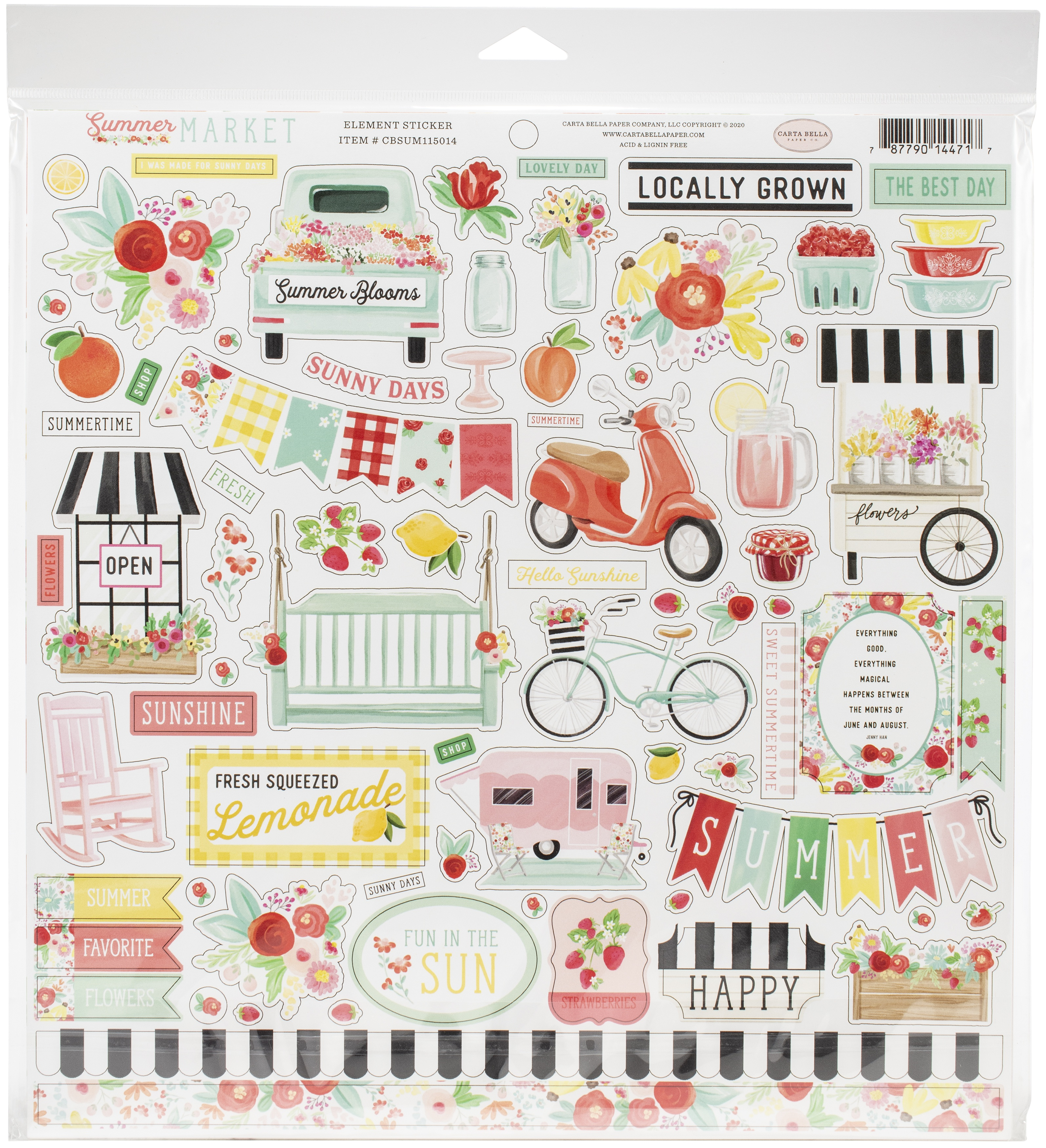 Carta Bella Collection Kit 12X12-Summer Market