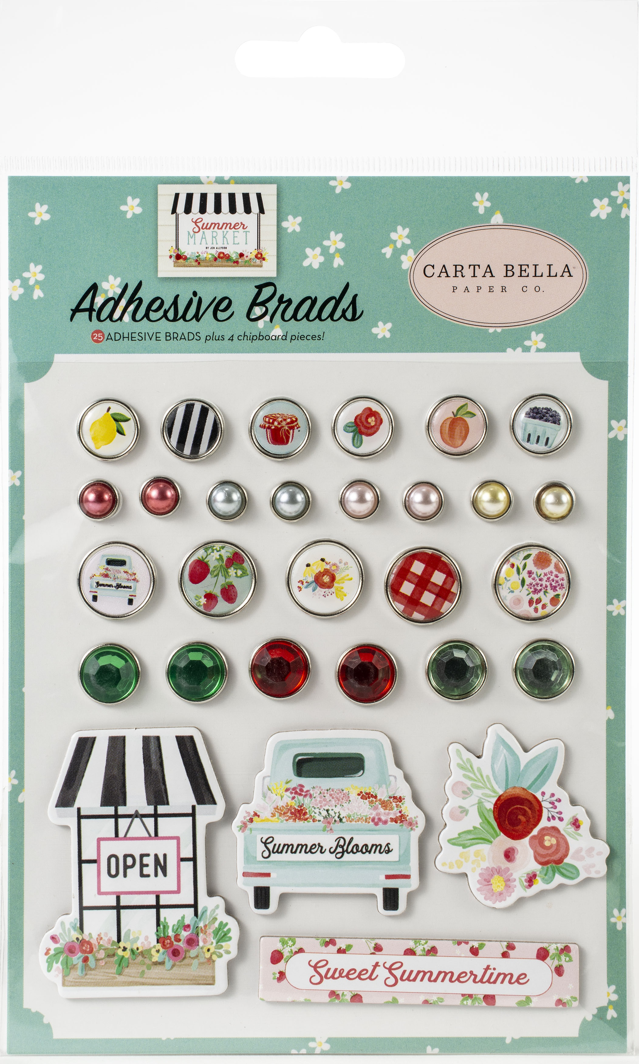 Carta Bella Decorative Brads -Summer Market