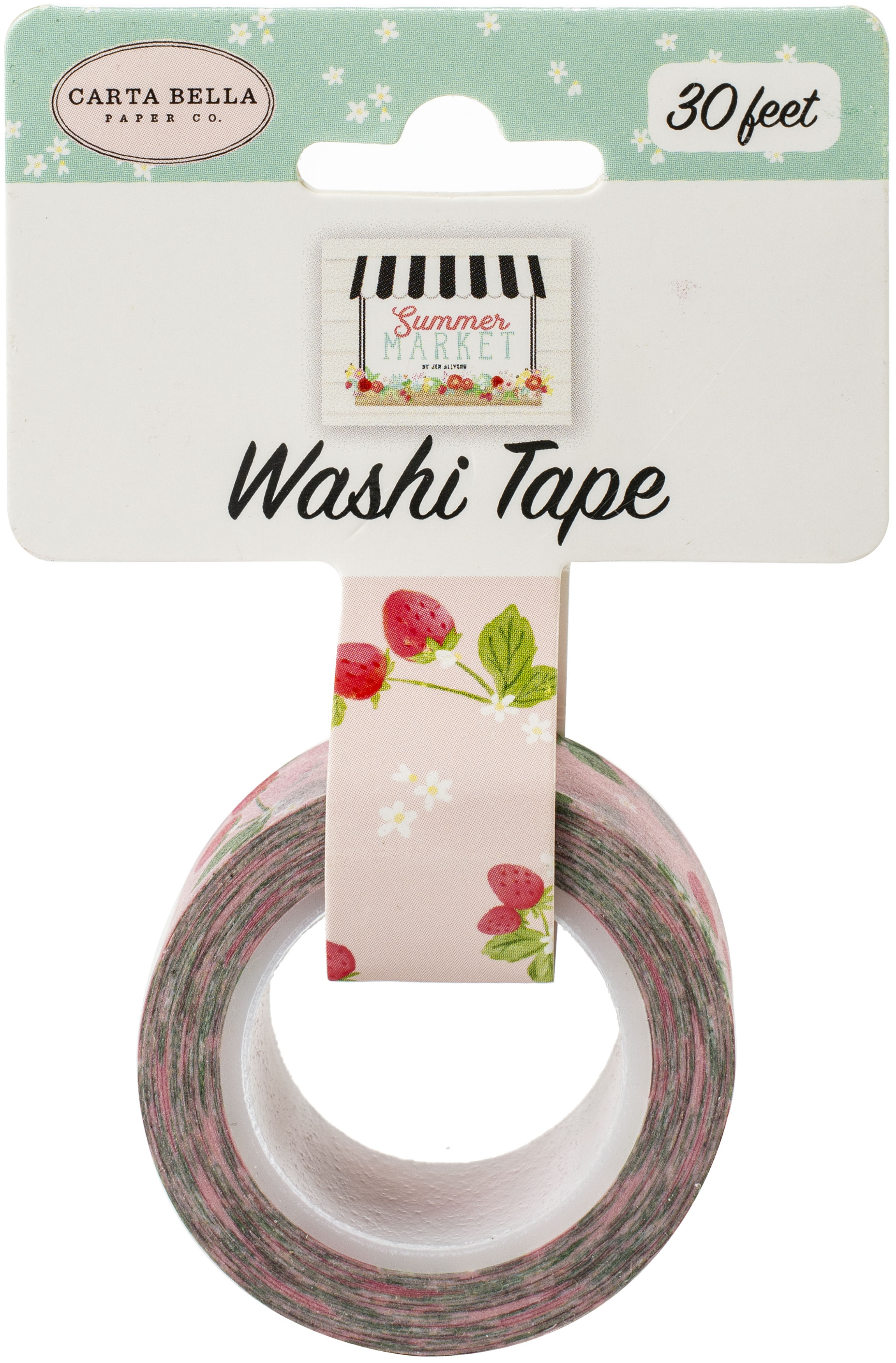 Carta Bella Summer Market Washi Tape 30'-Summer Berries