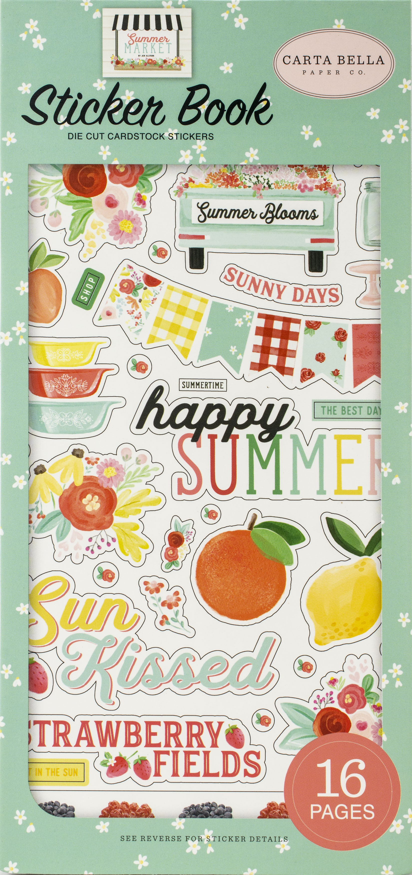 Carta Bella Sticker Book-Summer Market