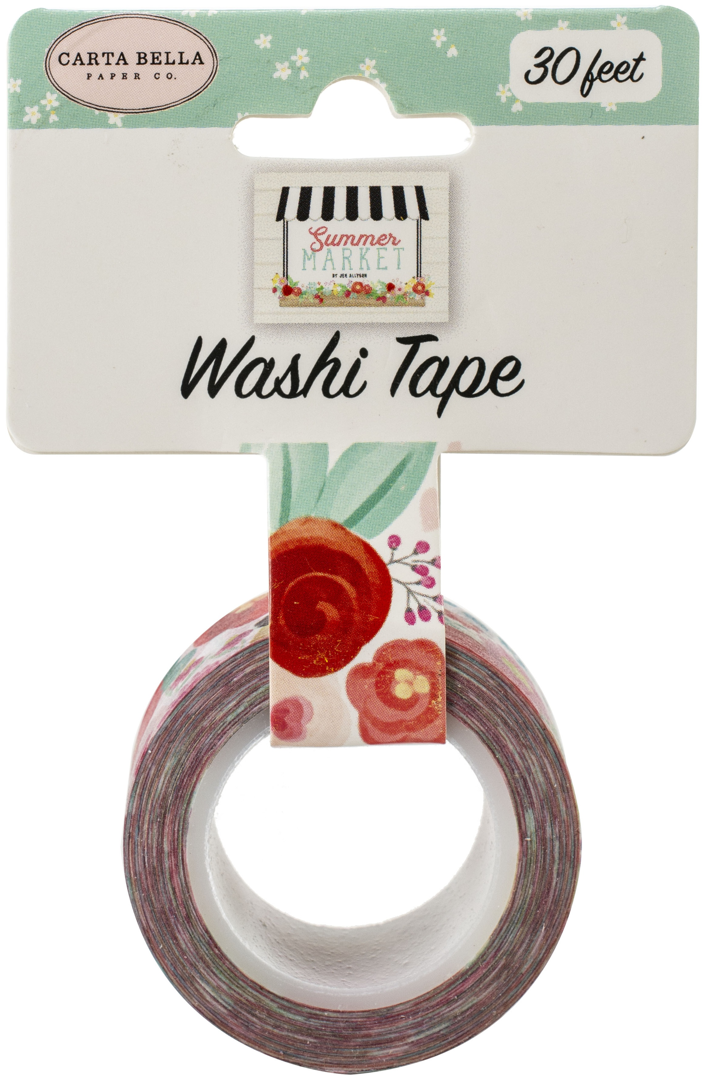 Carta Bella Summer Market Washi Tape 30'-Market Floral