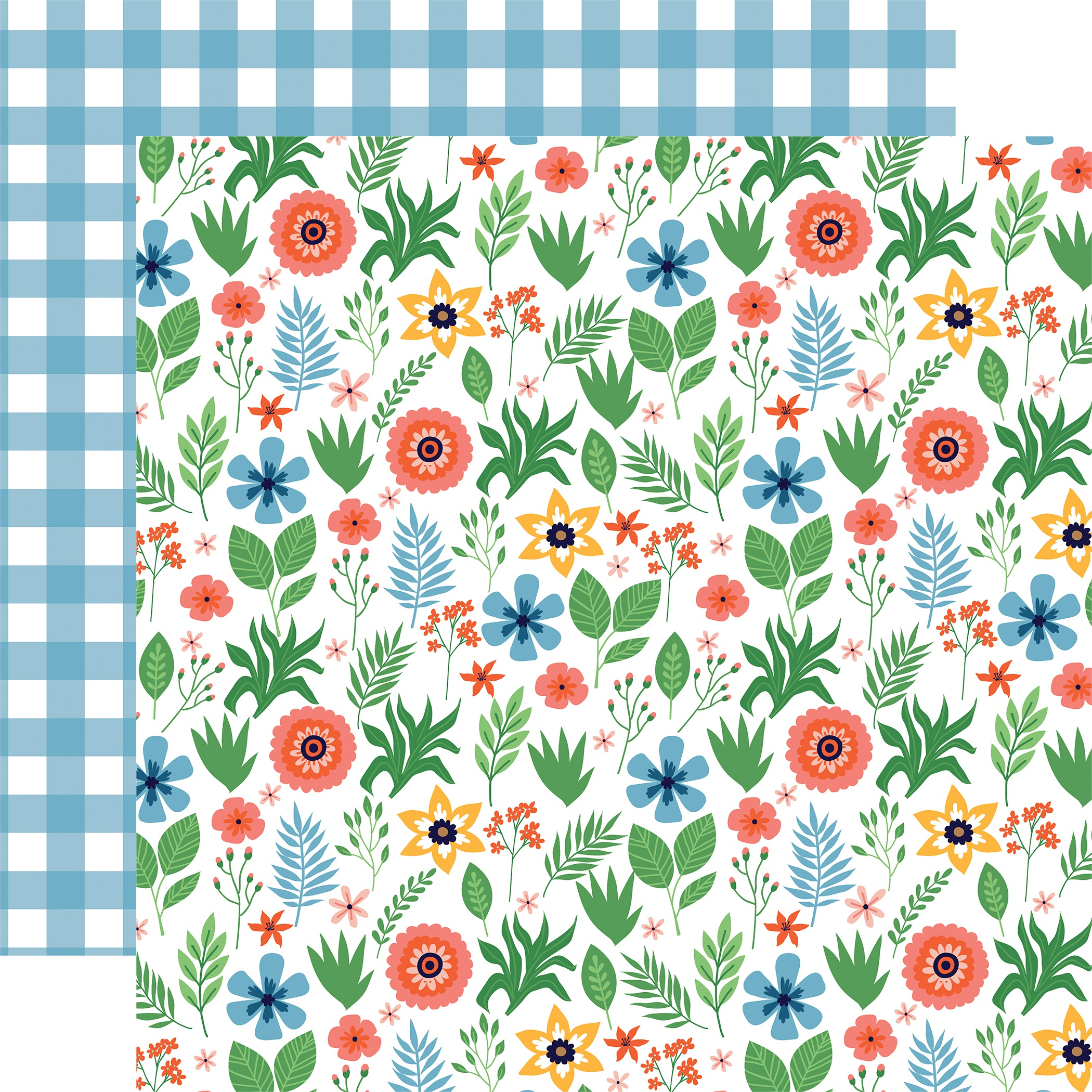 Summertime Double-Sided Cardstock 12X12-Summer Floral