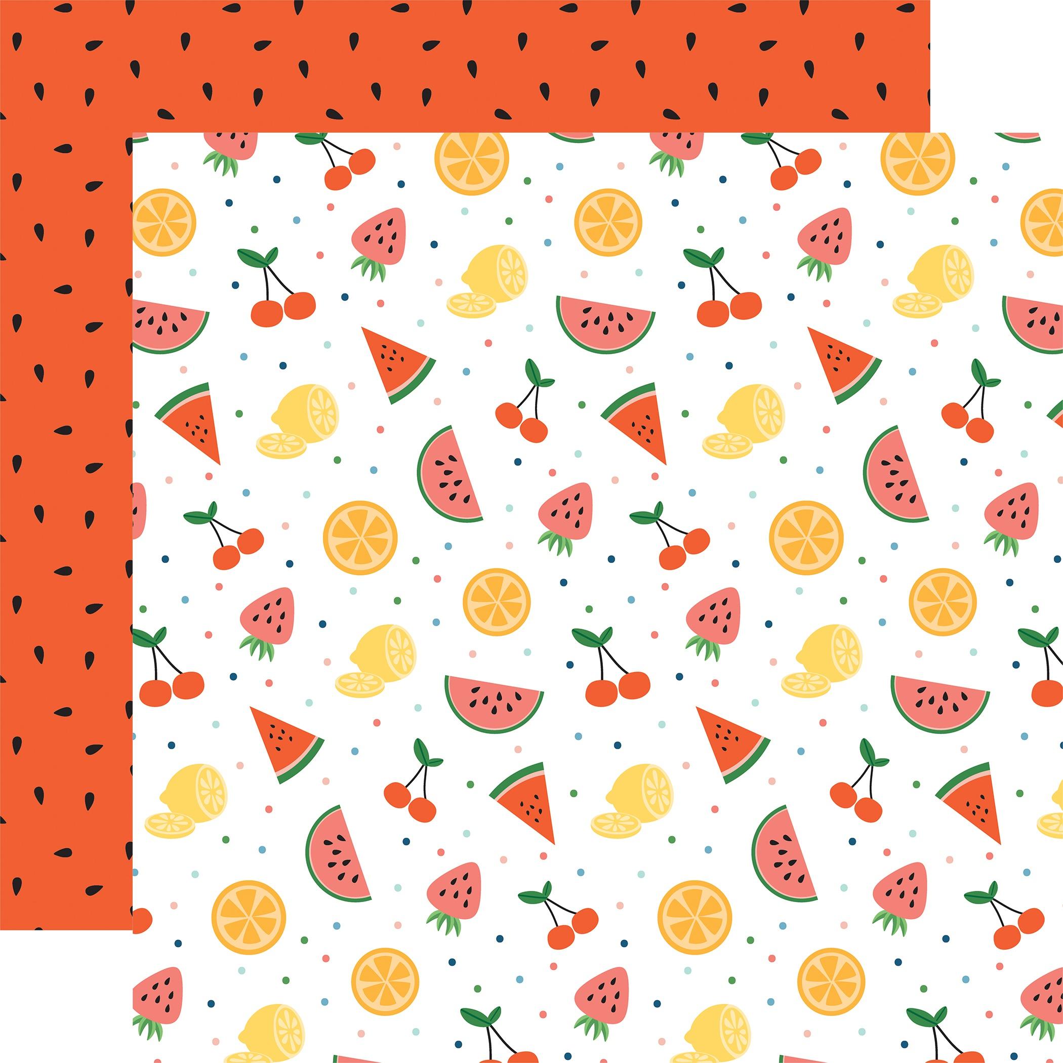 Summertime Double-Sided Cardstock 12X12-Fruit