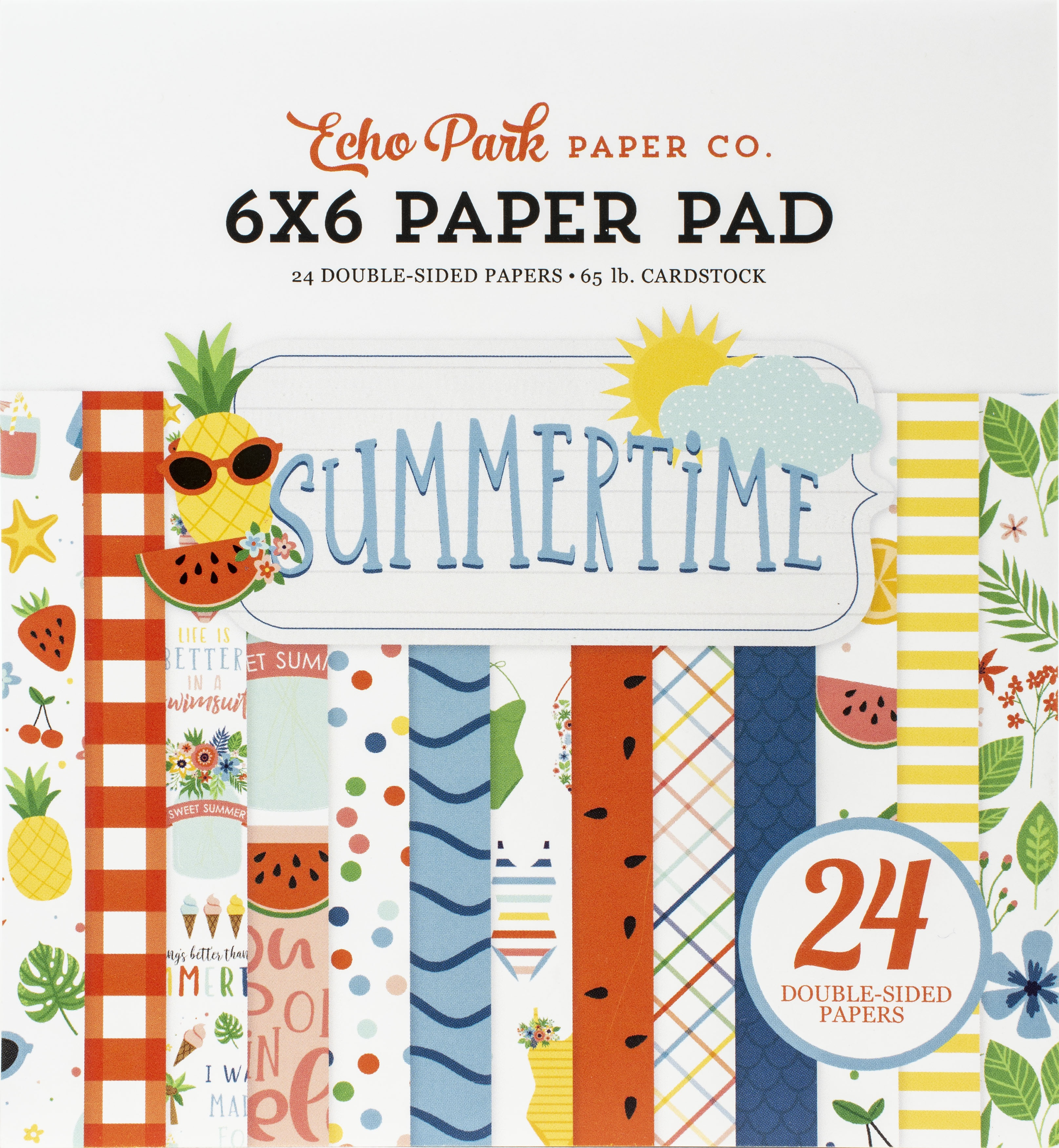 Echo Park Double-Sided Paper Pad 6X6 24/Pkg-Summertime