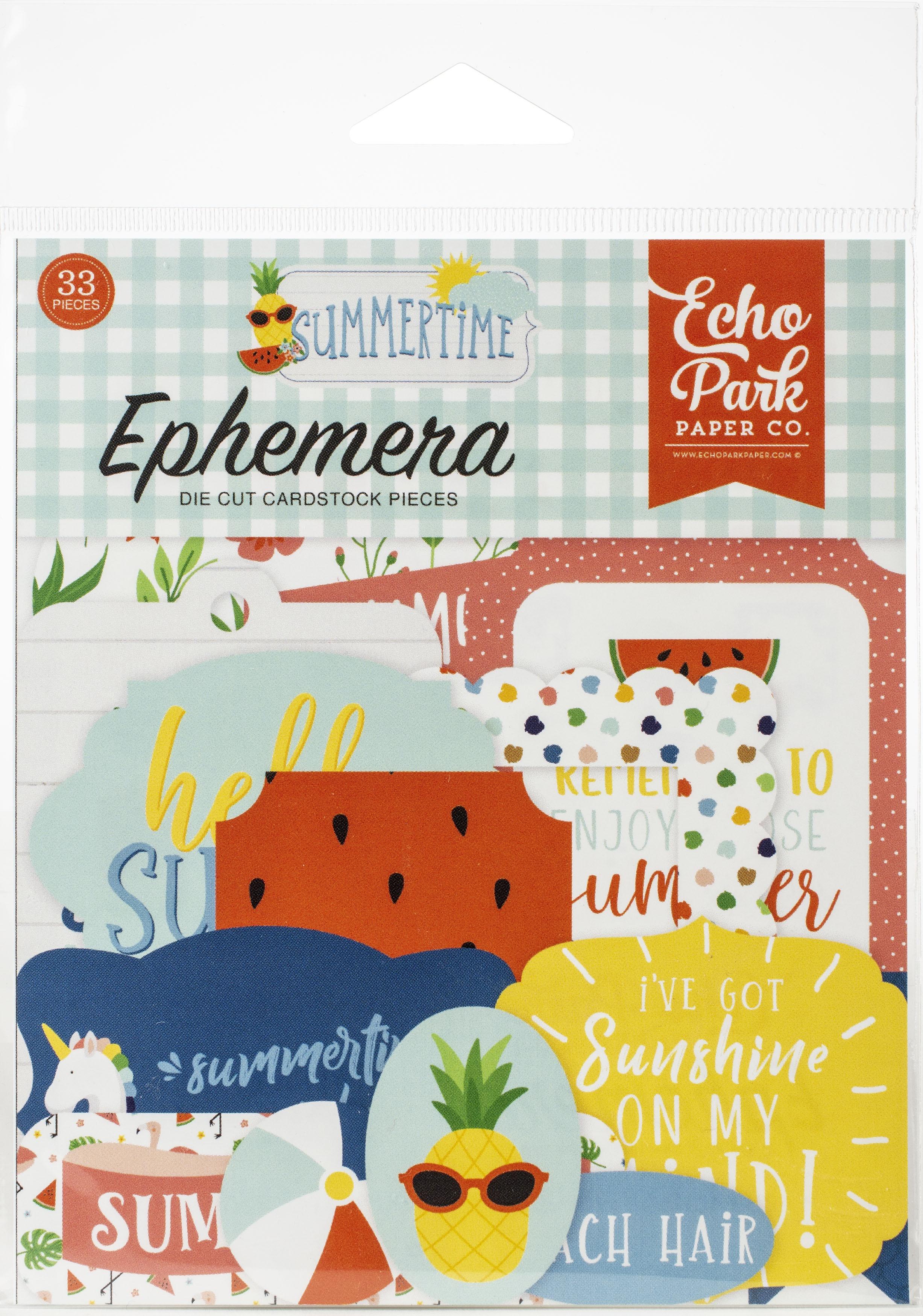 Echo Park Cardstock Ephemera 33/Pkg-Icons, Summertime