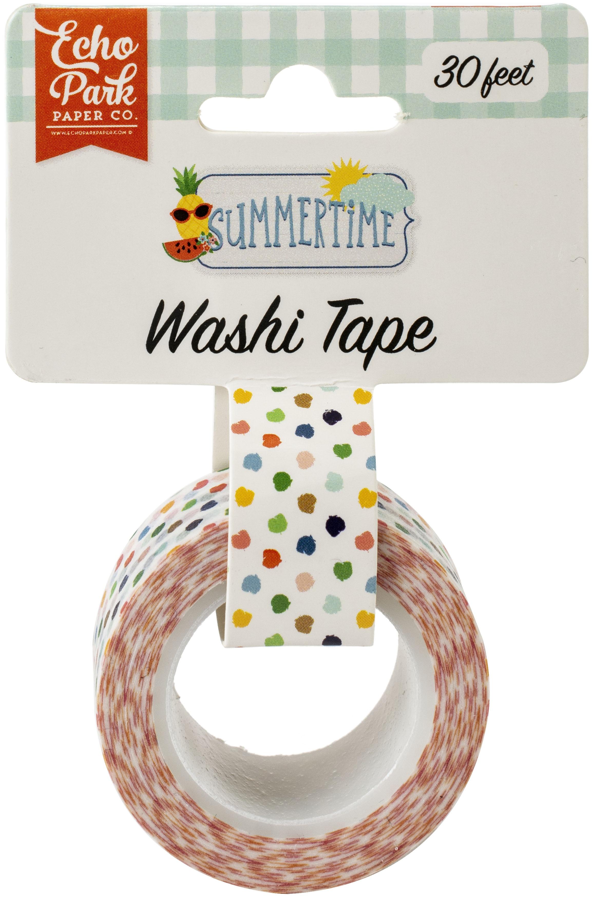 Echo Park Summertime Washi Tape 30'-Summer Dot