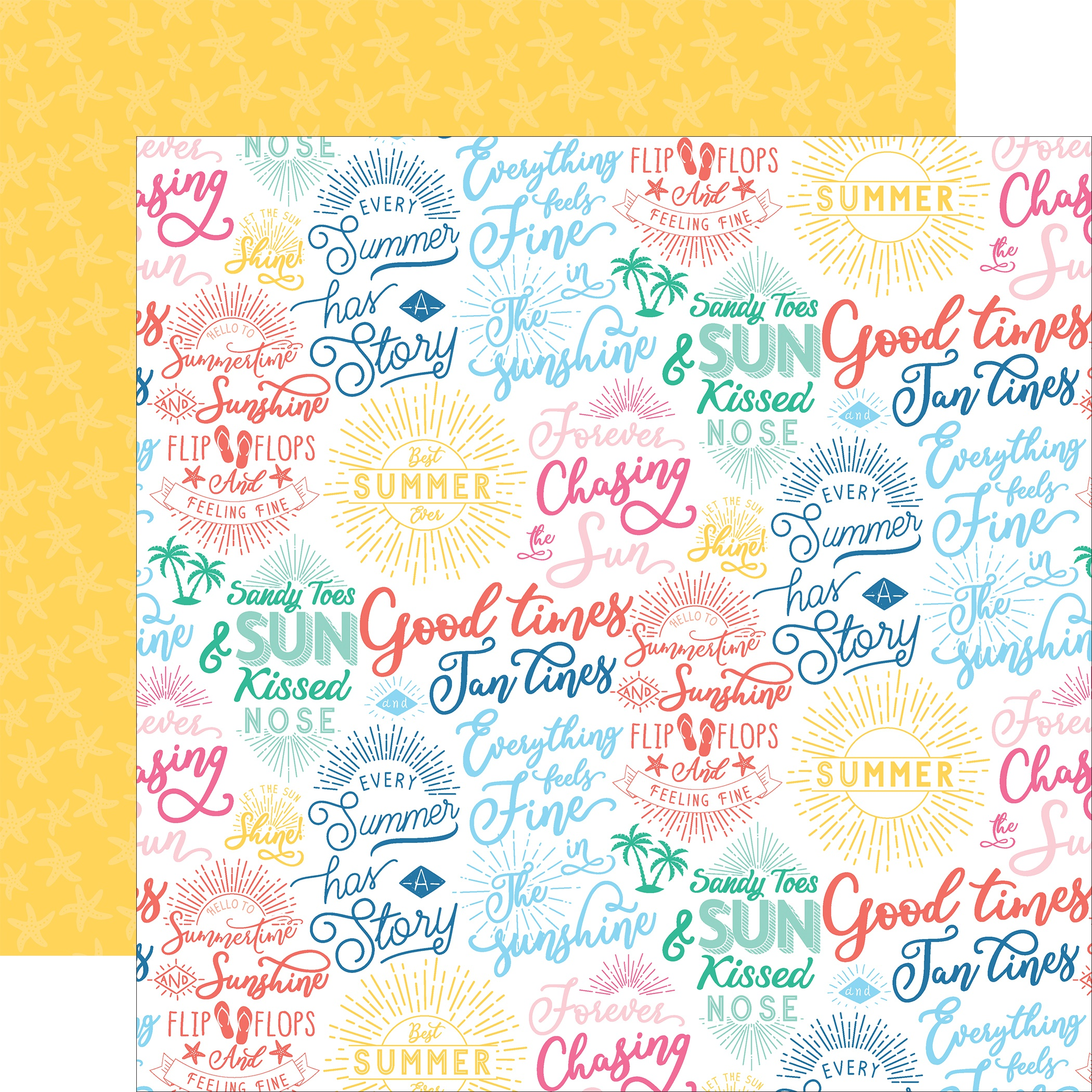 Dive Into Summer Double-Sided Cardstock 12X12-Good Times