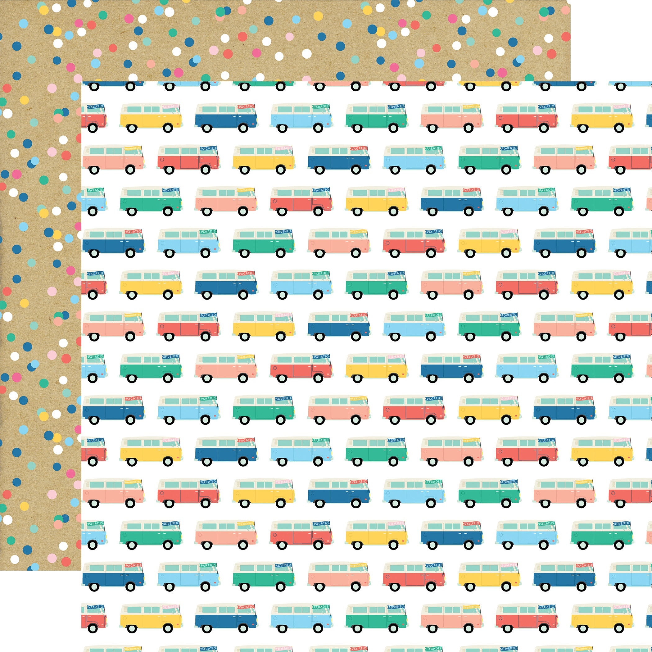 Dive Into Summer Double-Sided Cardstock 12X12-Adventure Bus