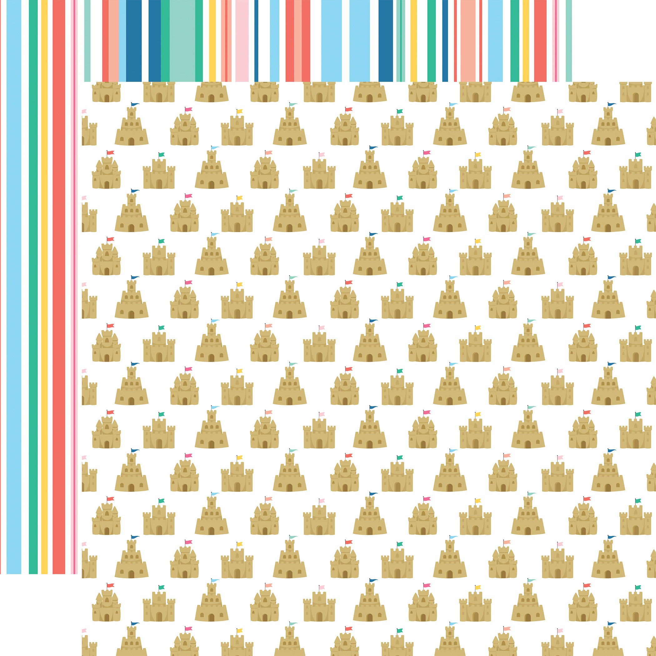 Dive Into Summer Double-Sided Cardstock 12X12-Sandcastle Kingdom