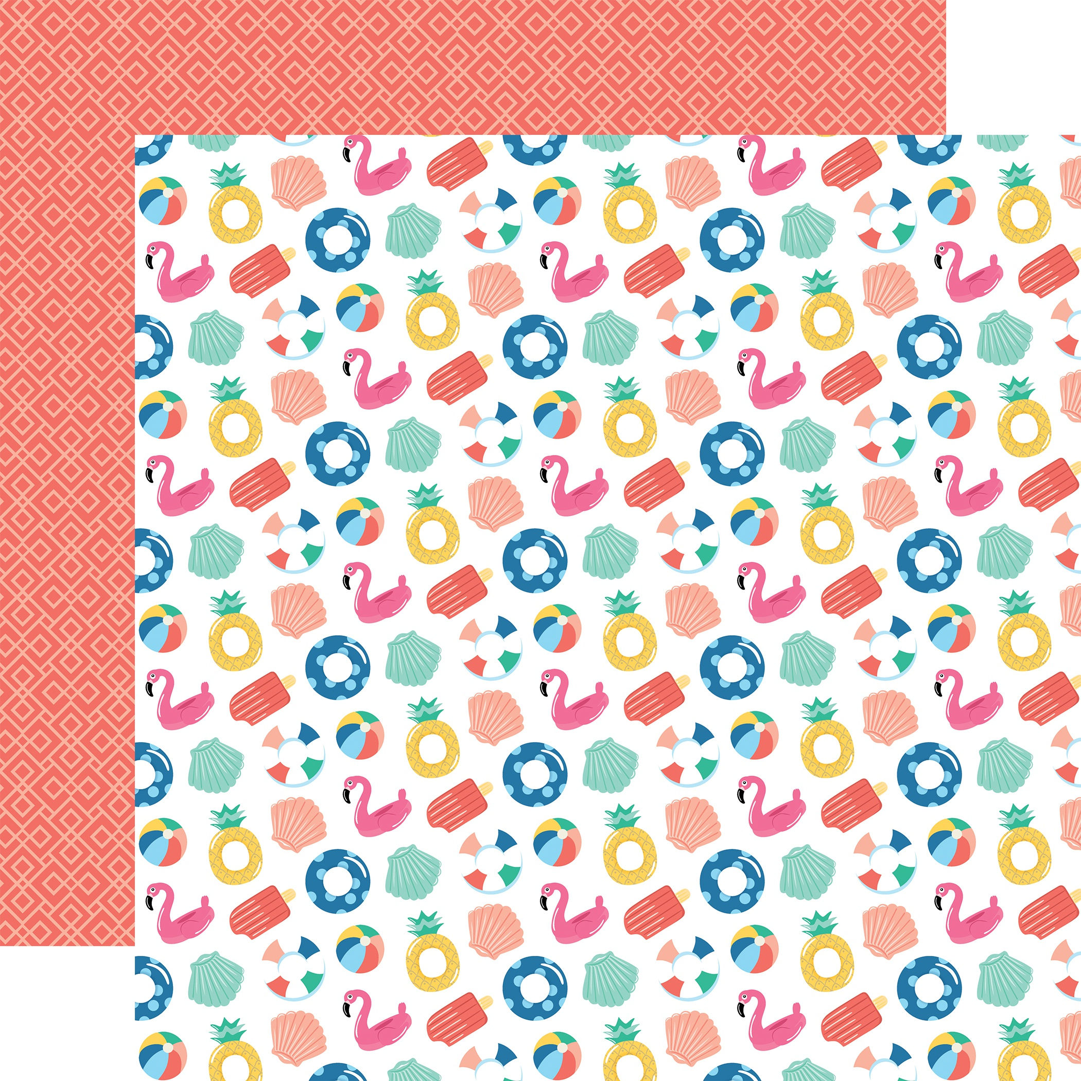 Dive Into Summer Double-Sided Cardstock 12X12-Fabulous Floaties