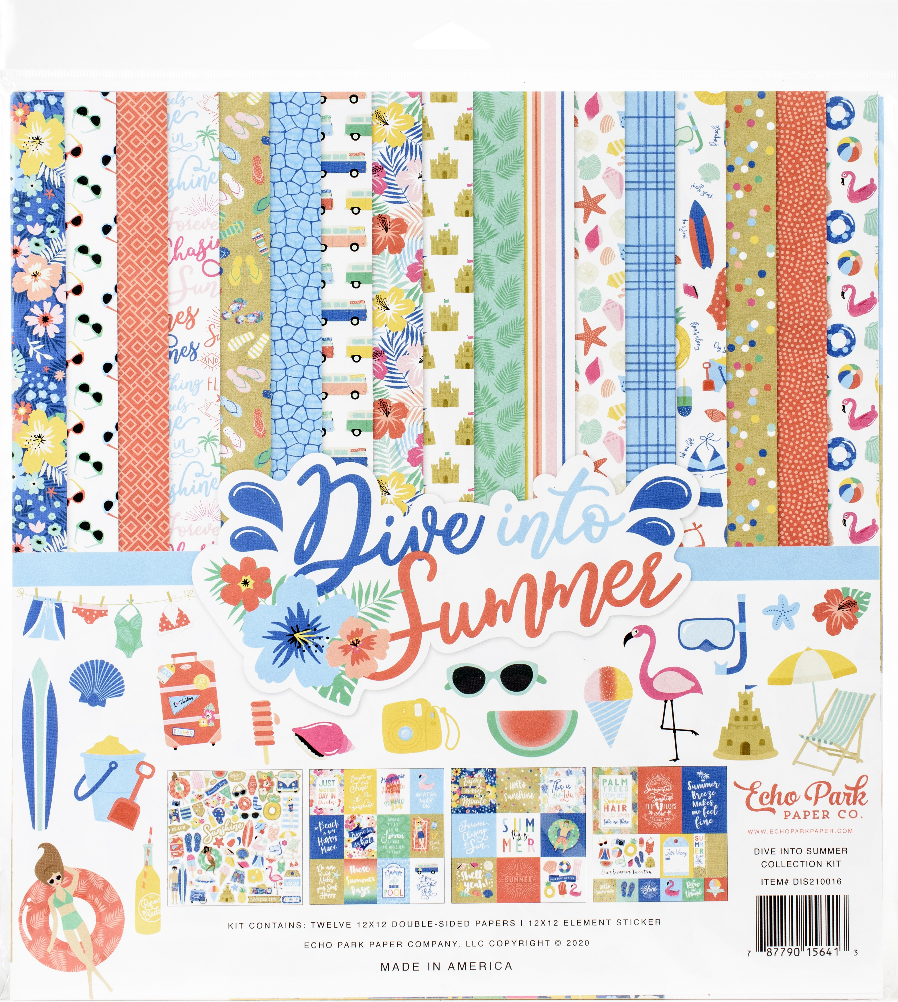 Echo Park Collection Kit 12X12-Dive Into Summer