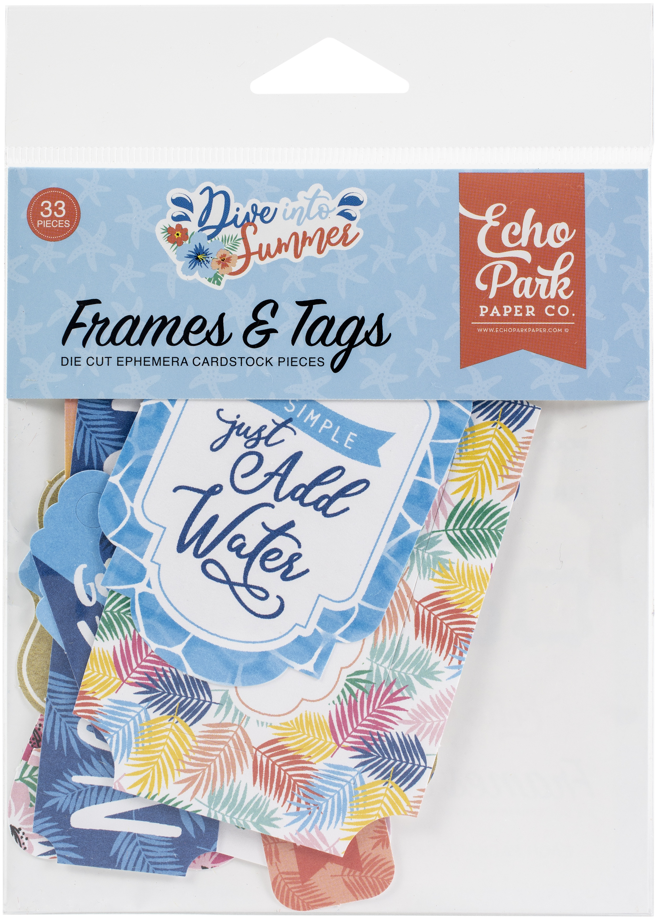 Echo Park Cardstock -Frames & Tags, Dive Into Summer