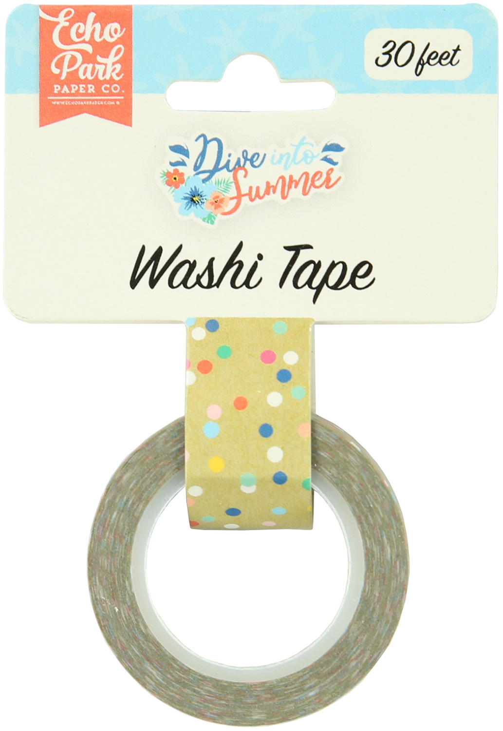 Dive Into Summer Washi Tape 30'-Good Vibes Dot