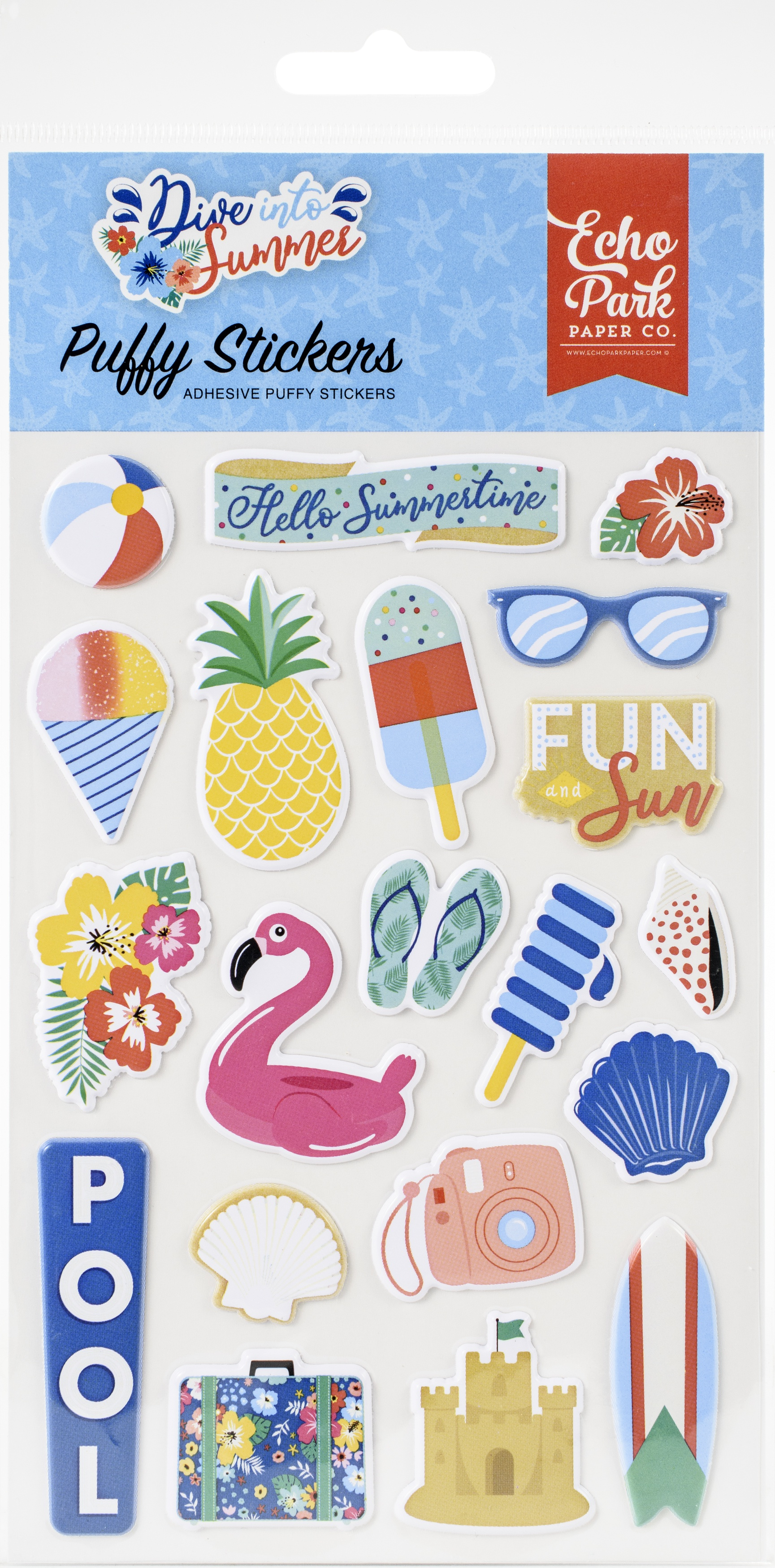 Dive Into Summer Puffy Stickers-