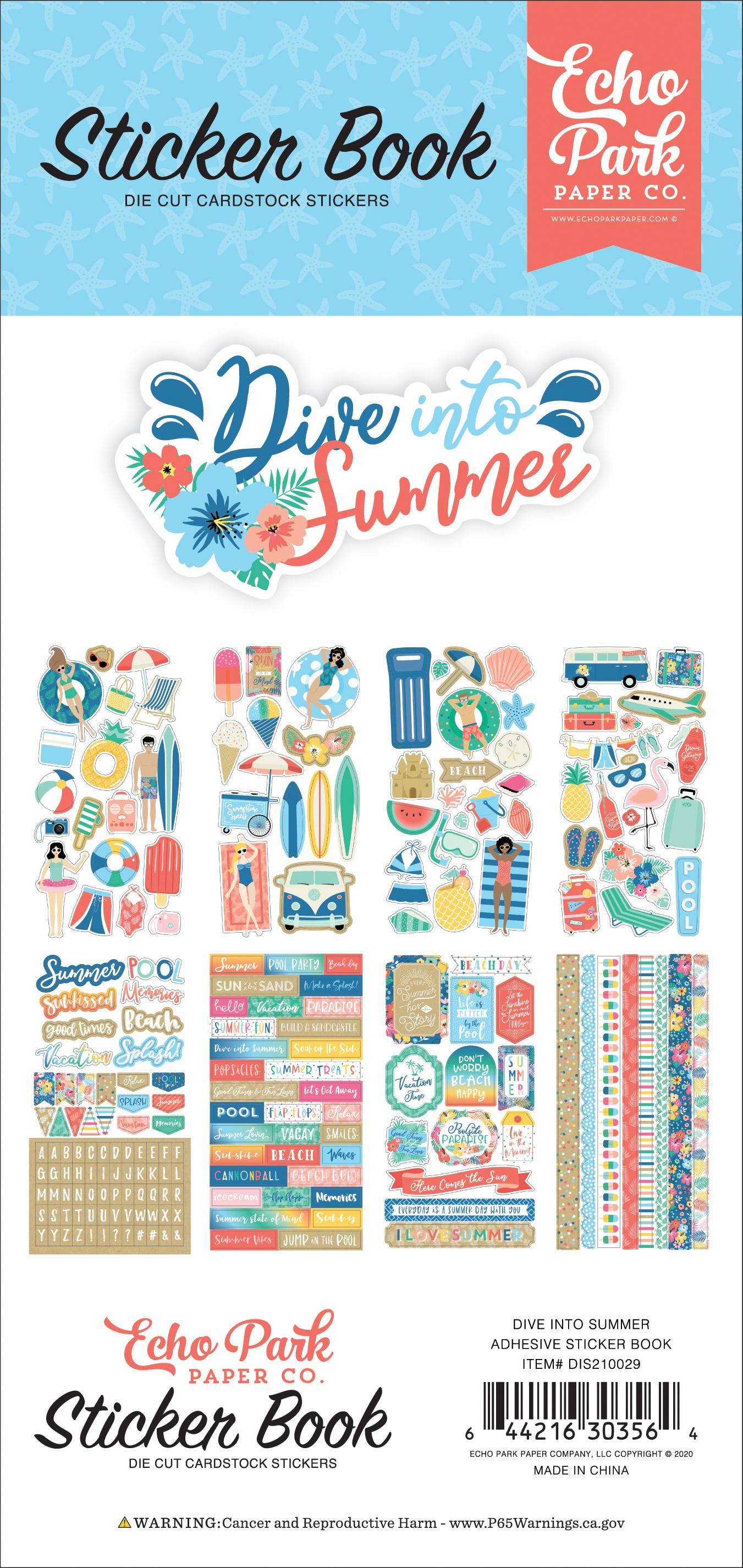 Echo Park Sticker Book-Dive Into Summer