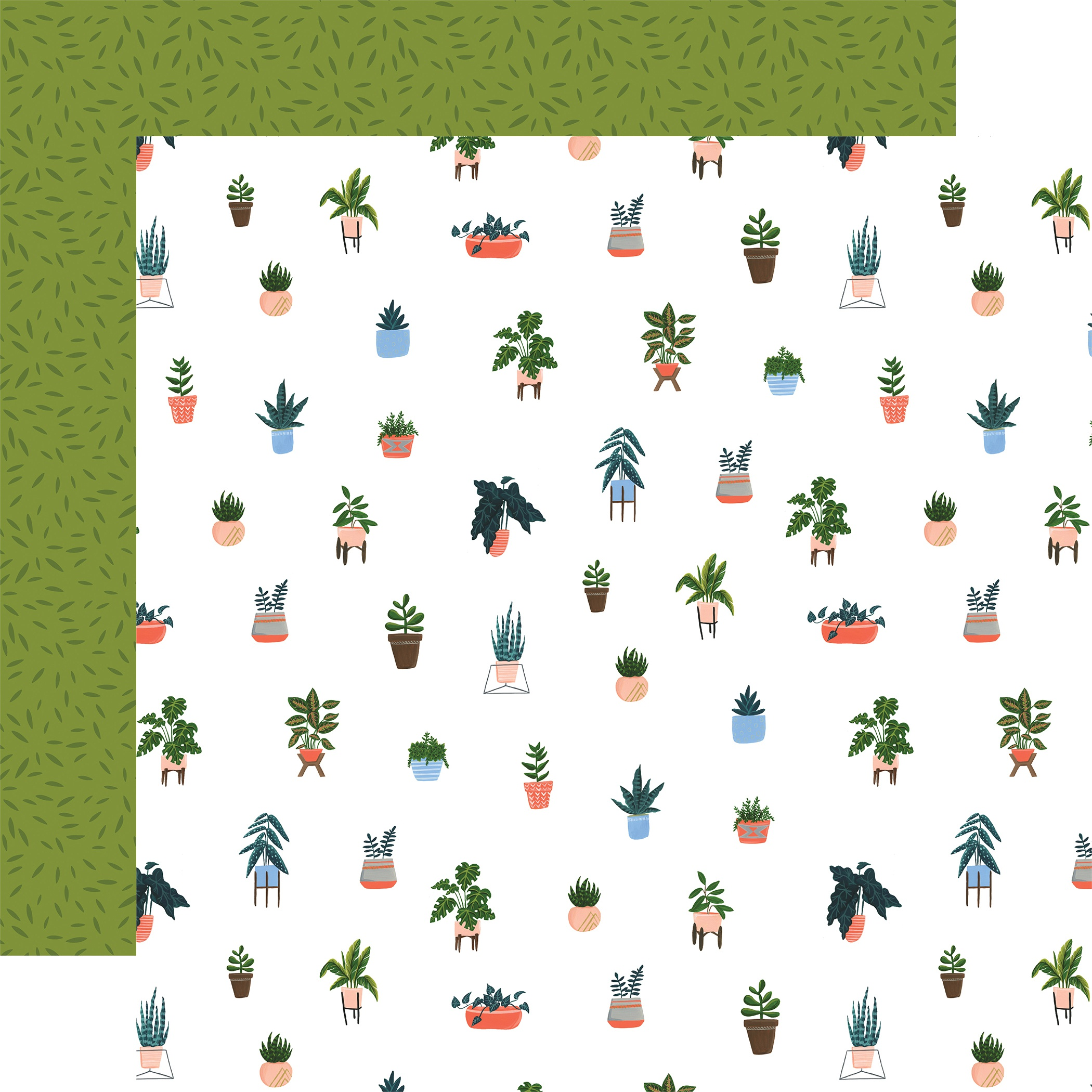 Plant Lady Double-Sided Cardstock 12X12-House Plant