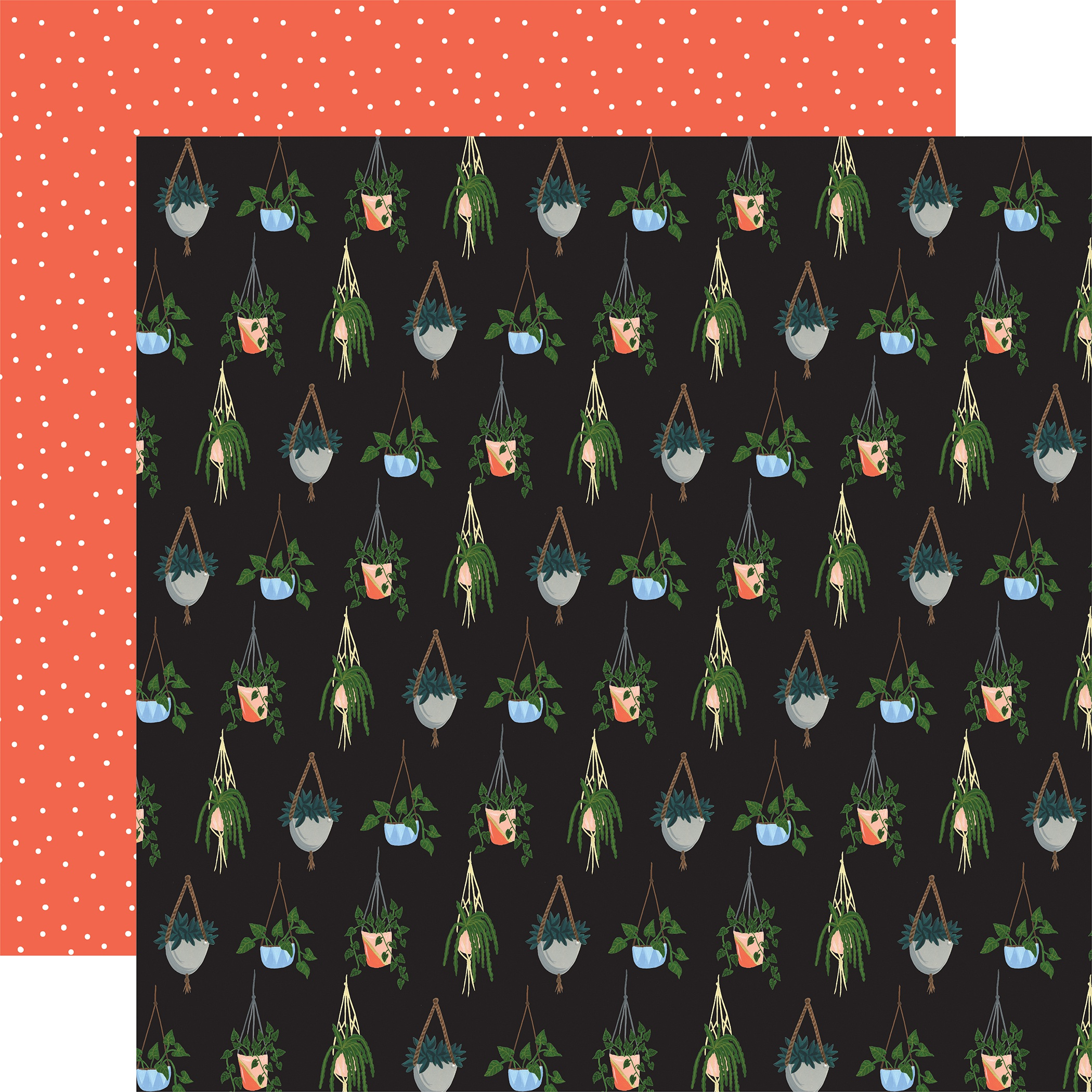 Plant Lady Double-Sided Cardstock 12X12-Hanging Plant