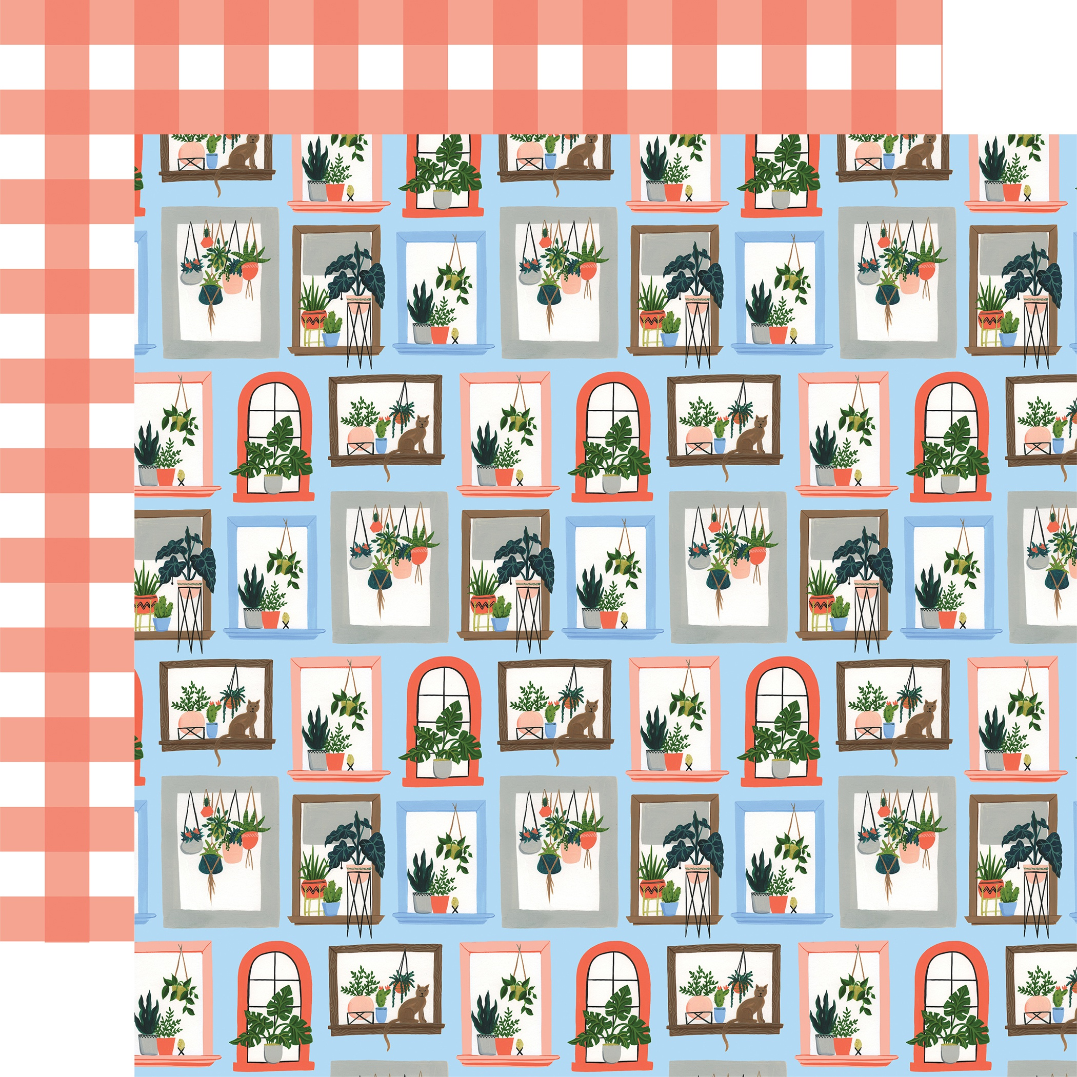 Plant Lady Double-Sided Cardstock 12X12-Window Blooms