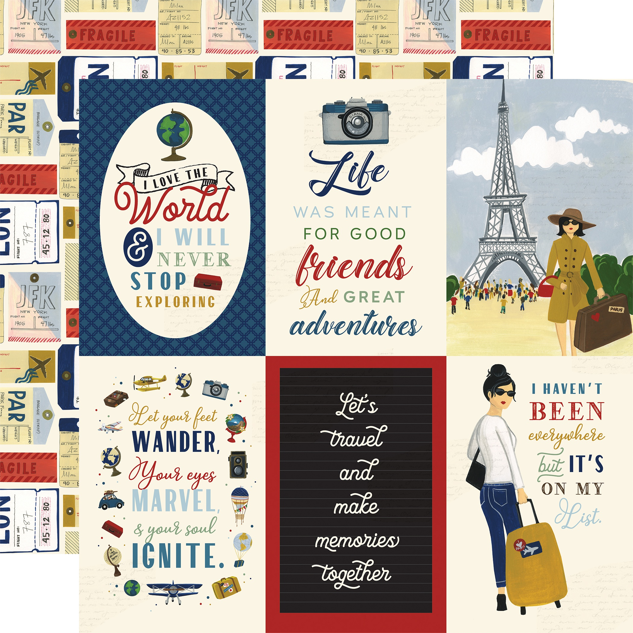 Scenic Route Double-Sided Cardstock 12X12-4X6 Journaling Cards
