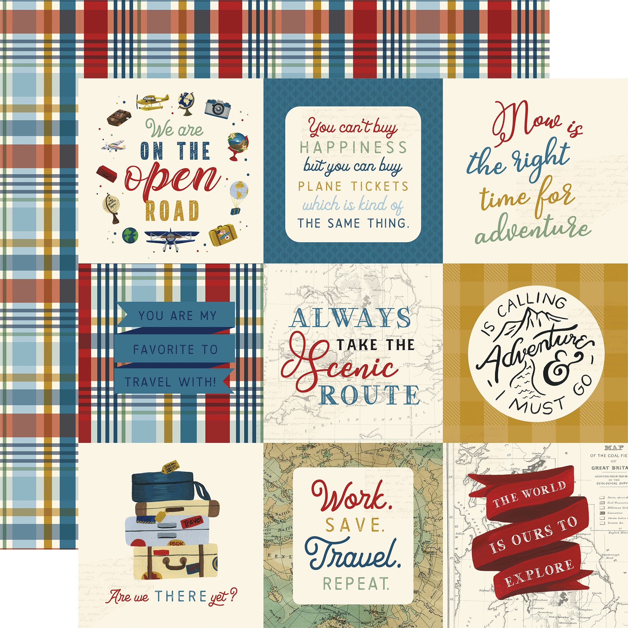 Scenic Route Double-Sided Cardstock 12X12-4X4 Journaling Cards