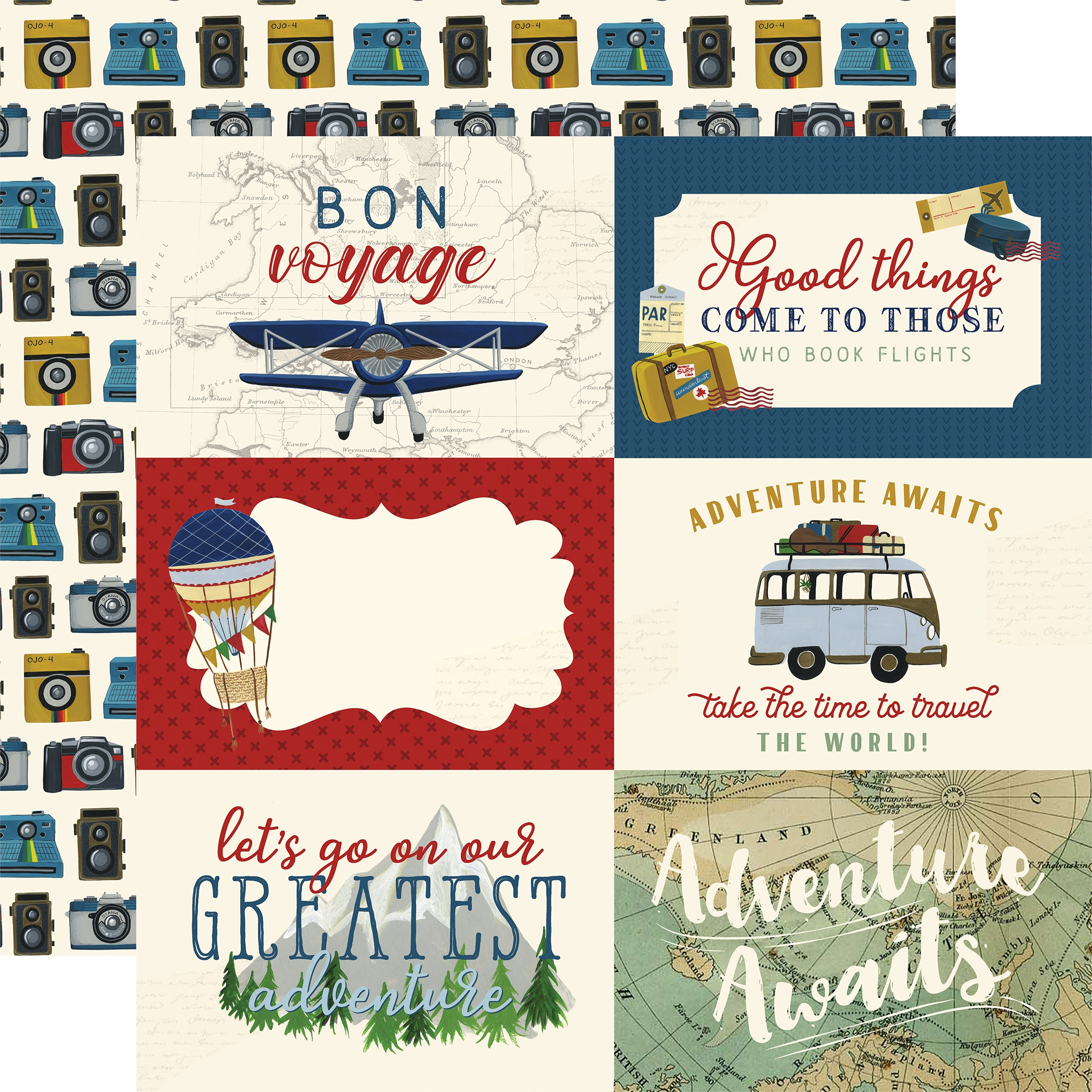 Scenic Route Double-Sided Cardstock 12X12-6X4 Journaling Cards