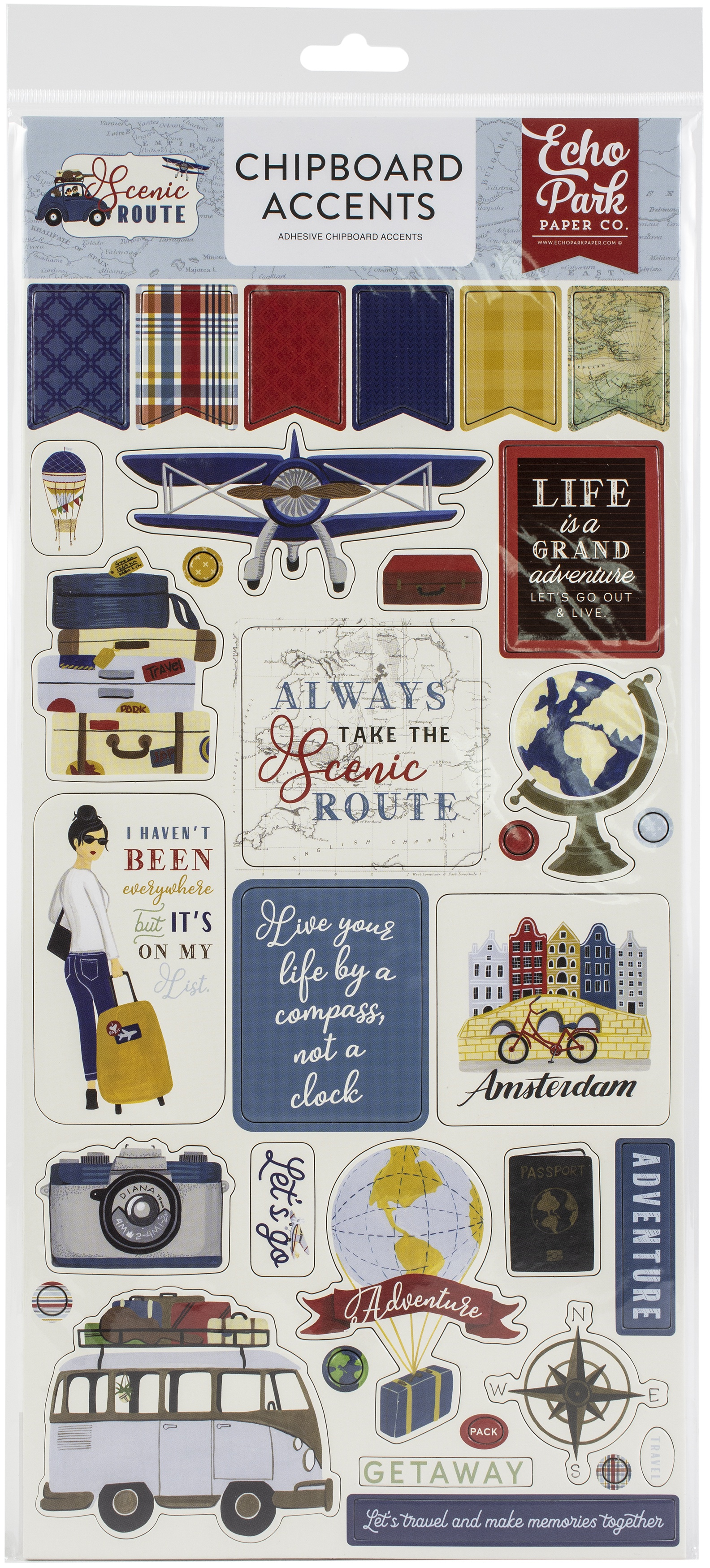 Scenic Route Chipboard 6X13-Accents