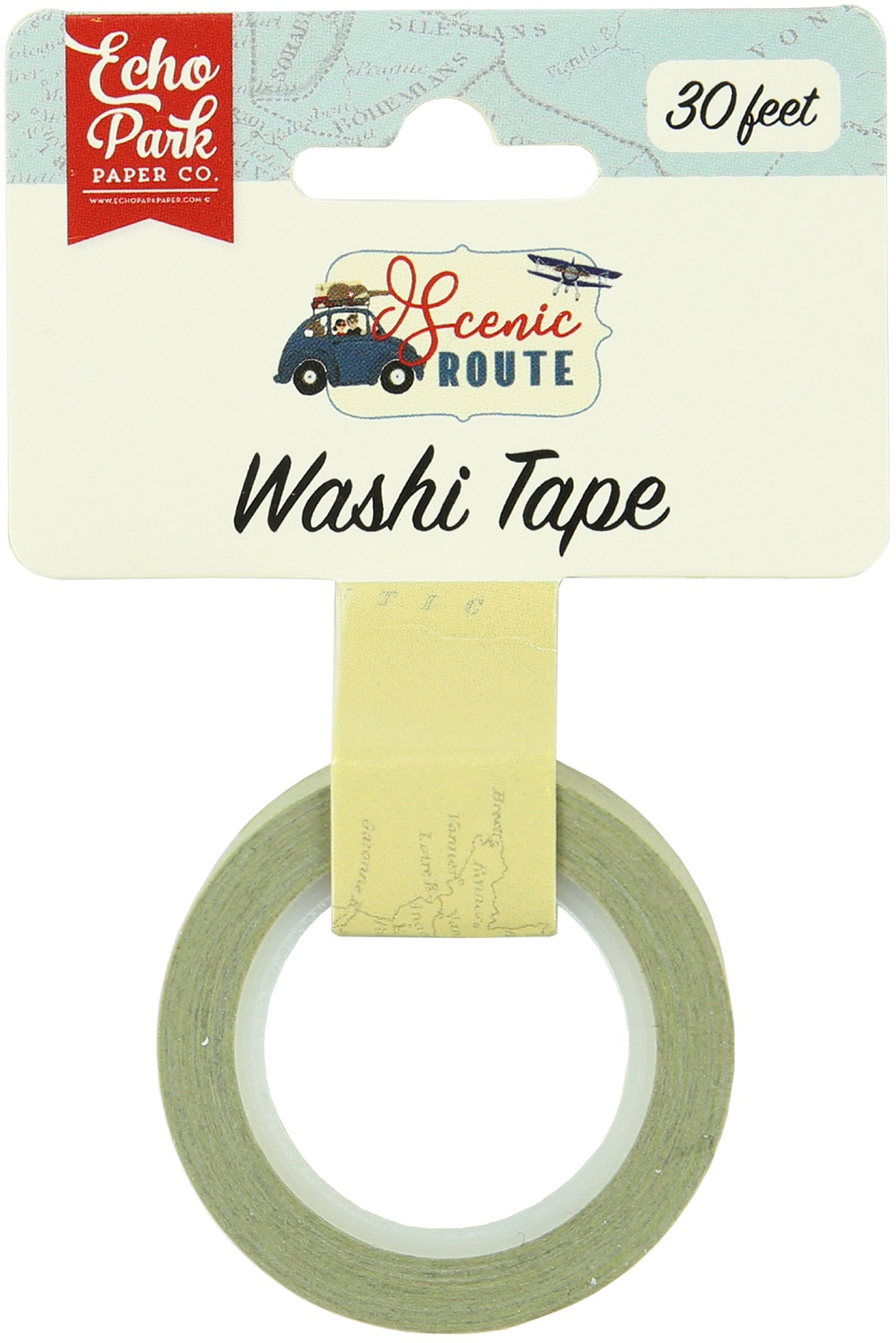 Scenic Route Washi Tape Map