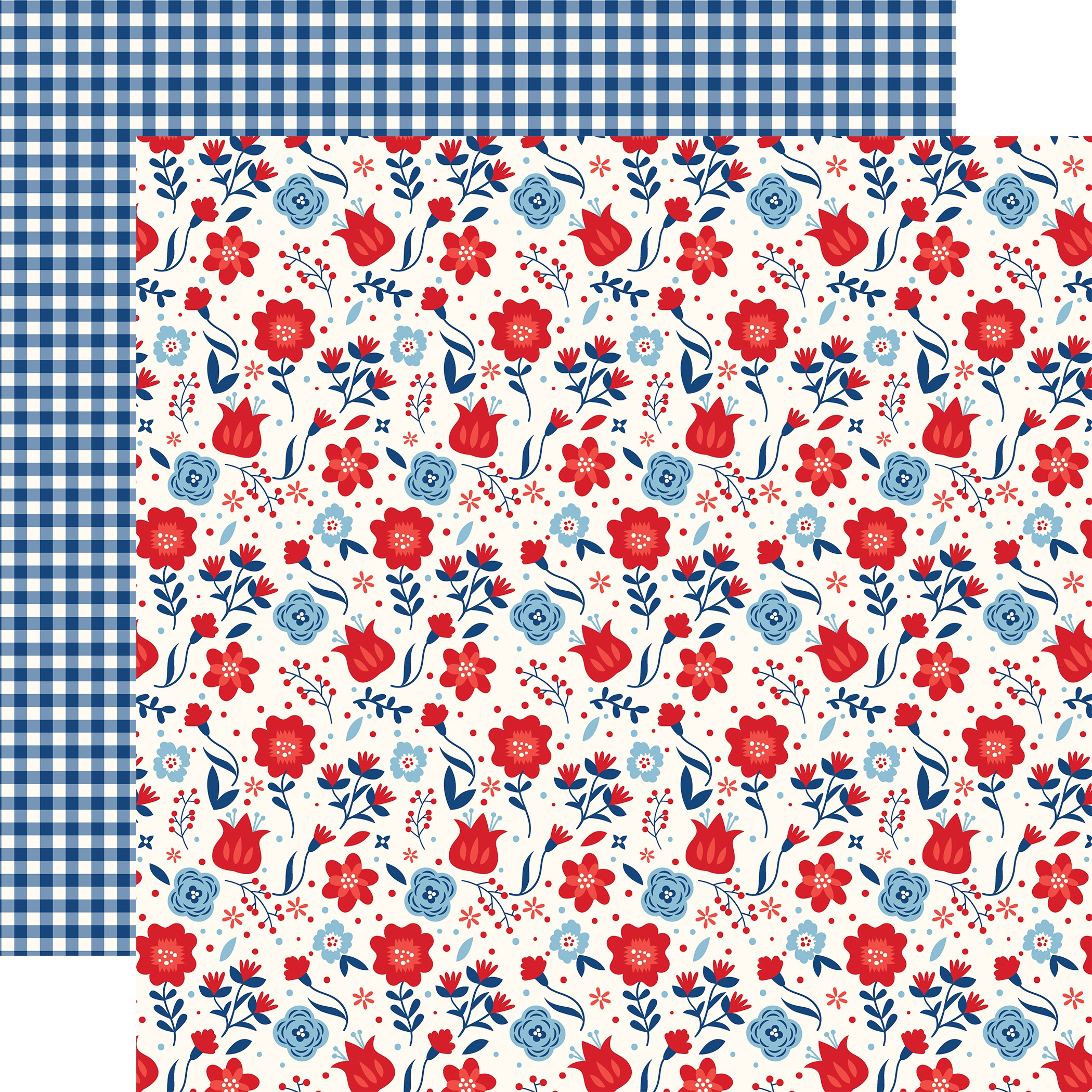 America Double-Sided Cardstock 12X12-Liberty Floral
