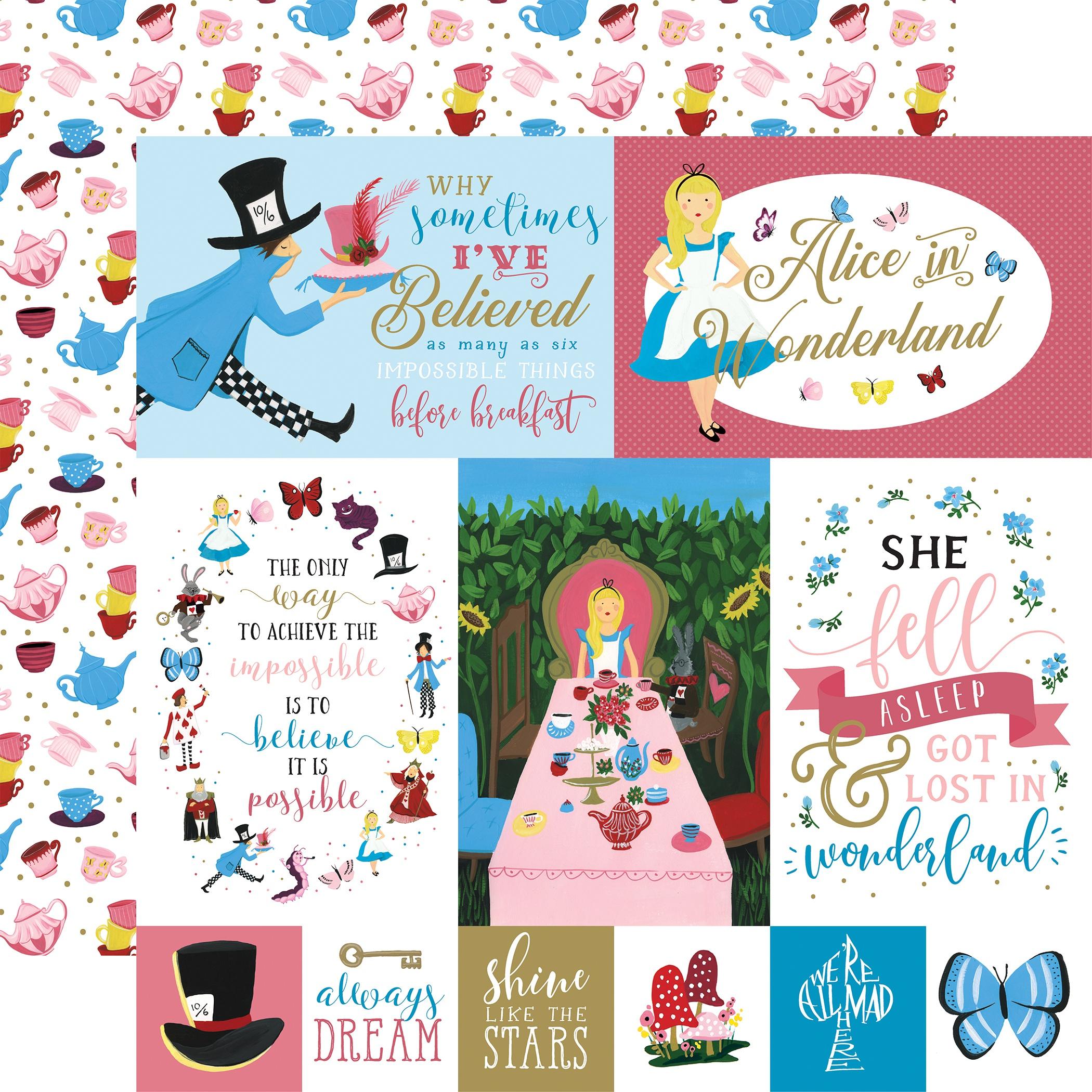 Alice In Wonderland No2 Multi Journaling Cards