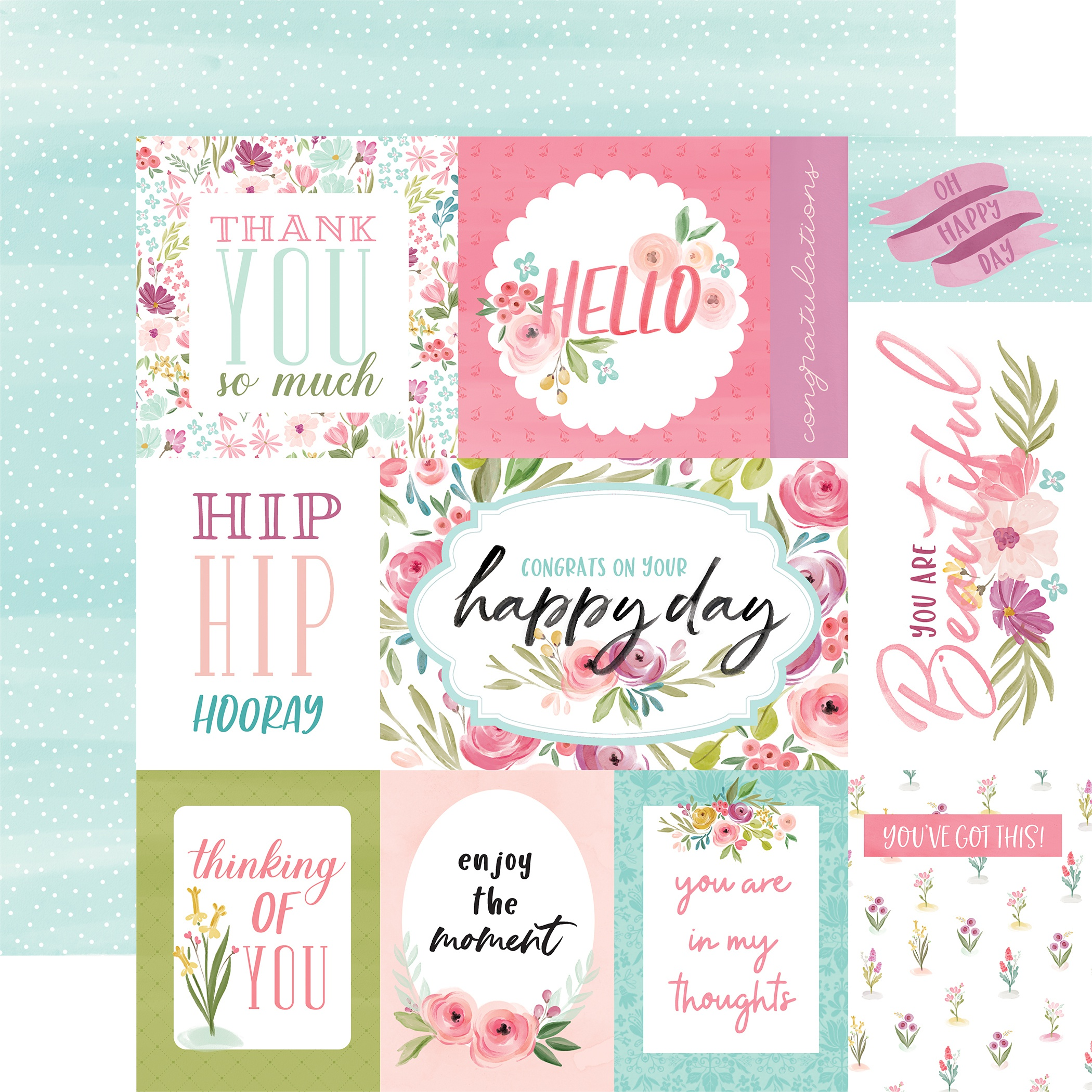 Flora No 3 Bright Journaling Cards