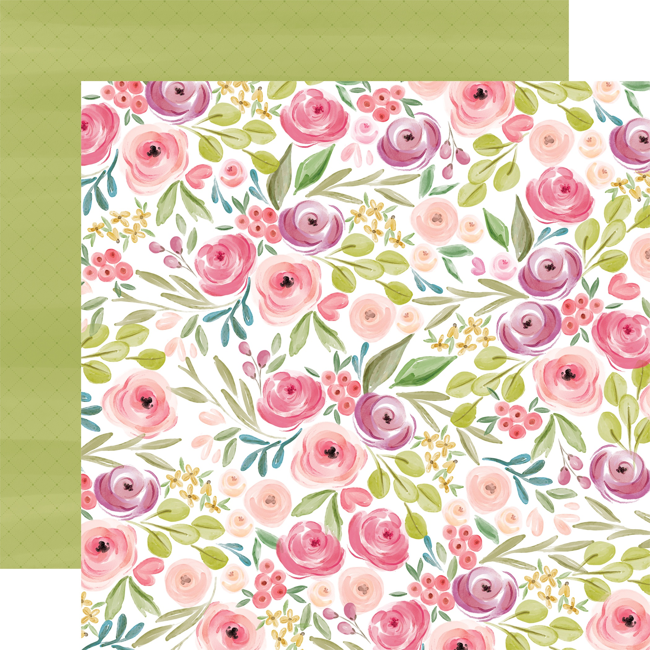 Flora No. 3 Double-Sided Cardstock 12X12-Bright Large Floral