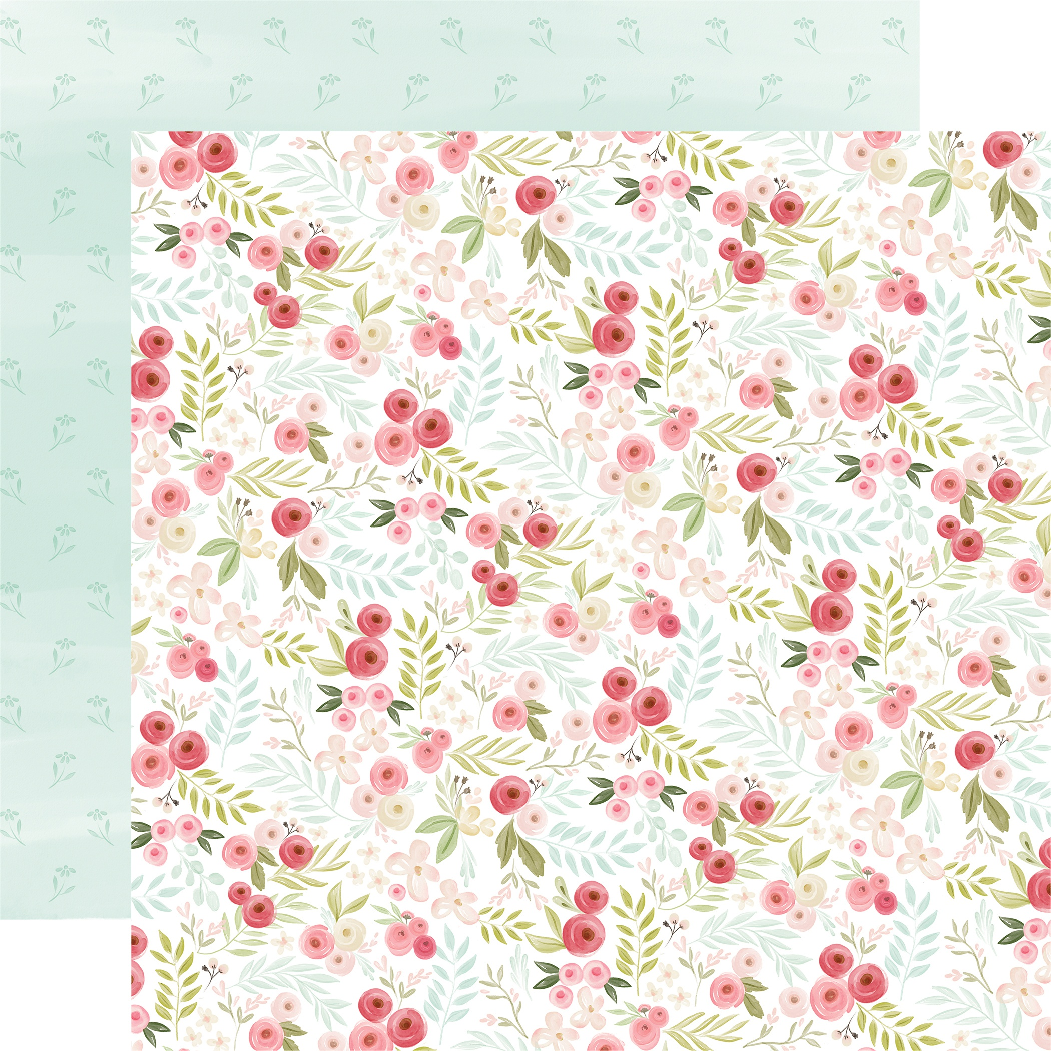 Flora No. 3 Double-Sided Cardstock 12X12-Subtle Small Floral