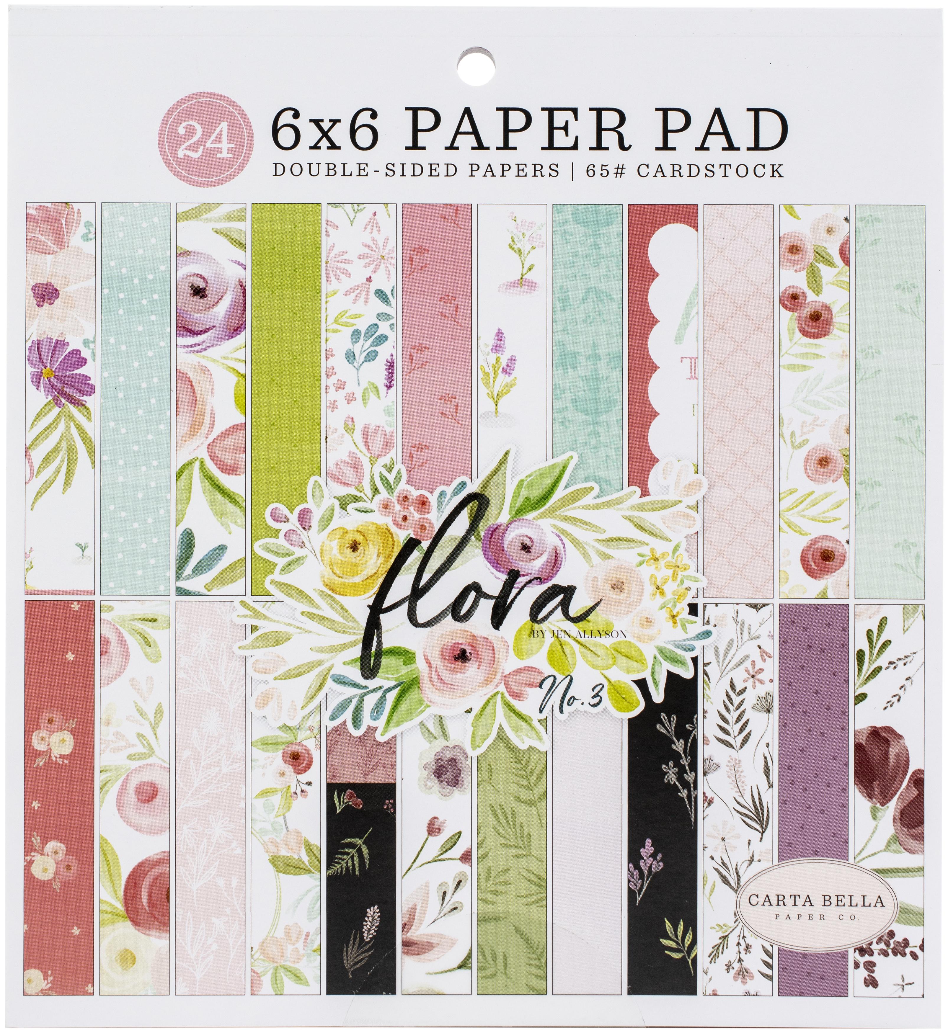 Carta Bella Double-Sided Paper Pad 6X6 24/Pkg-Flora No. 3, 12 Designs/2 Each