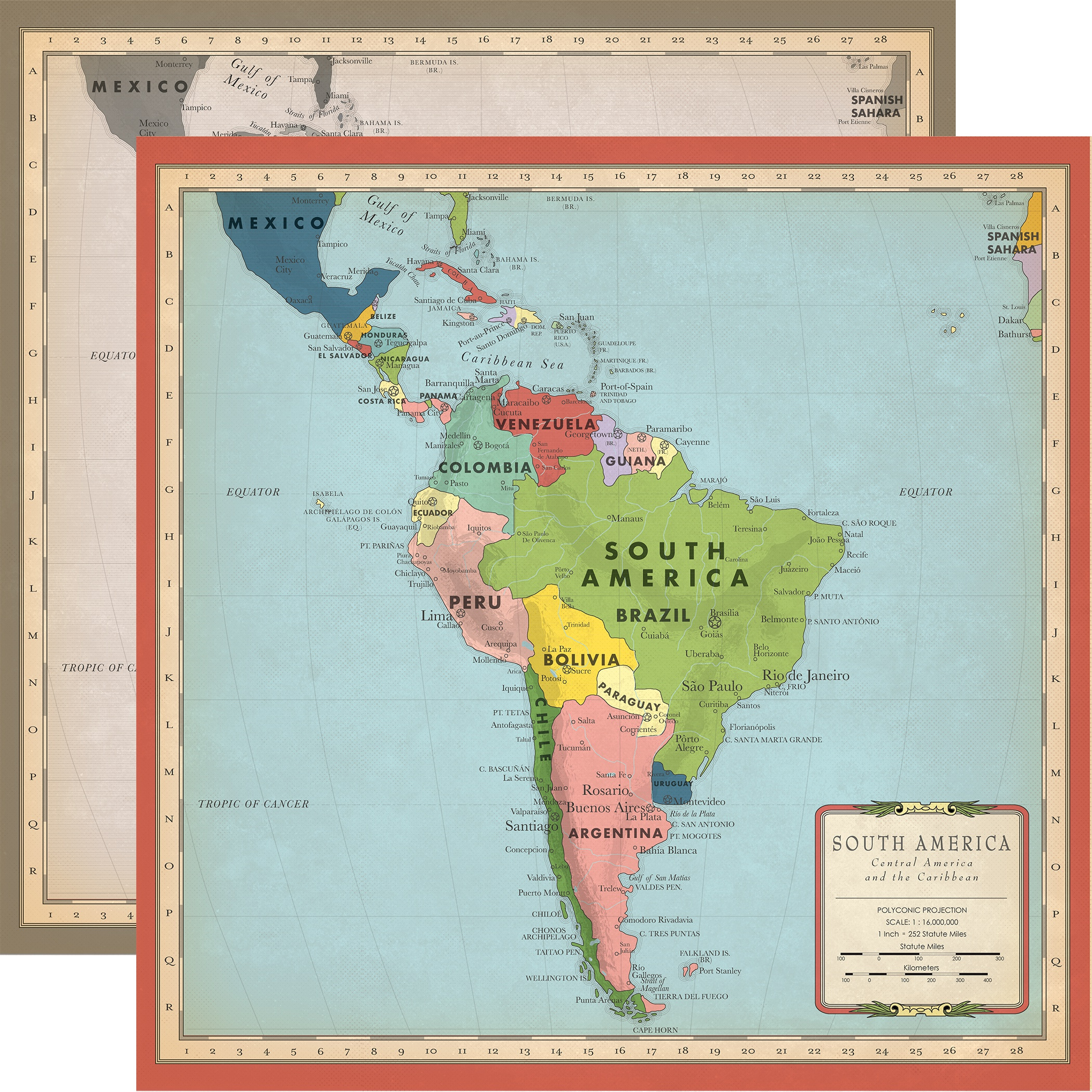 Cartography No 2 SOUTH AMERICA
