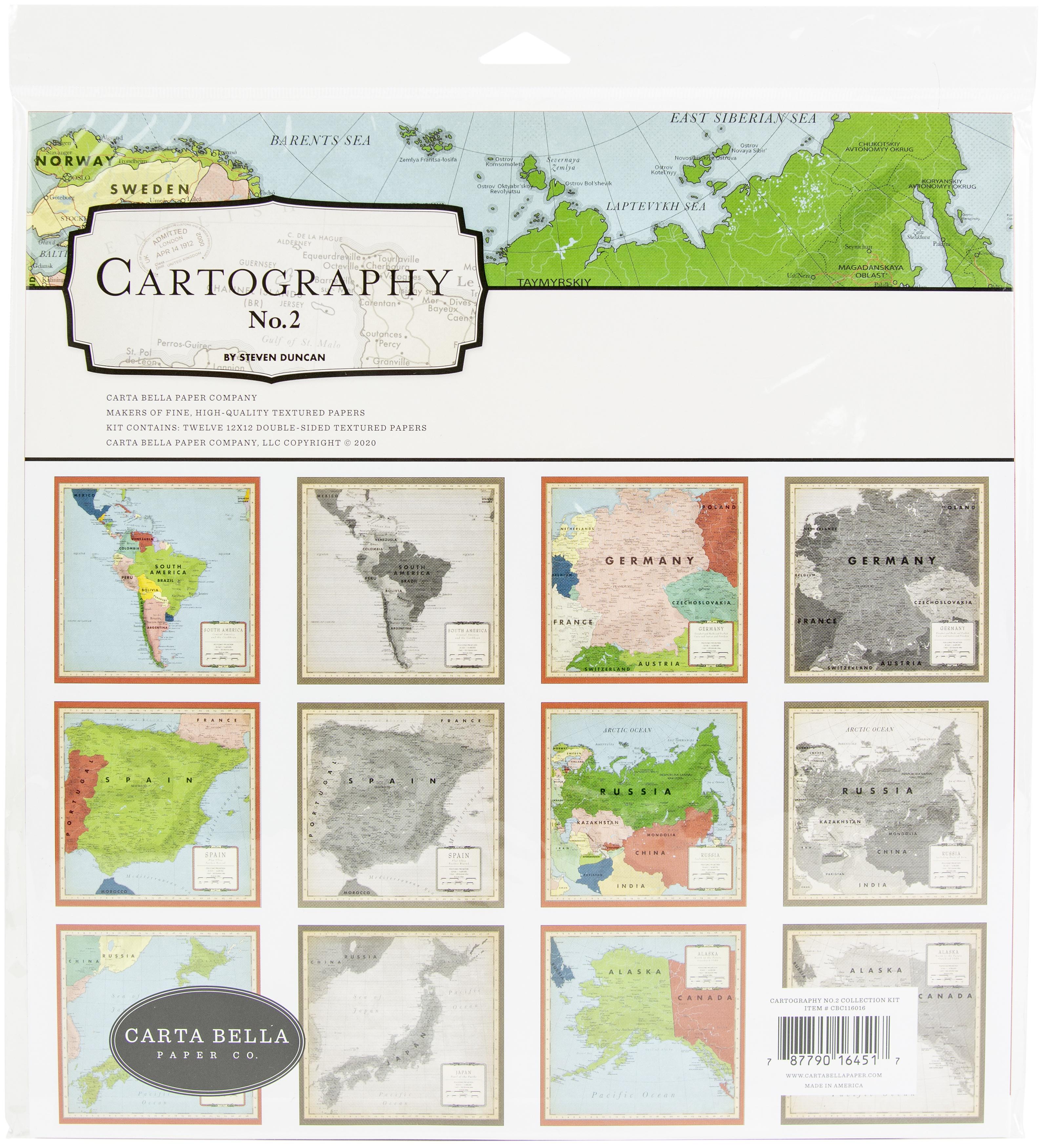 Carta Bella Collection Kit 12X12-Cartography No