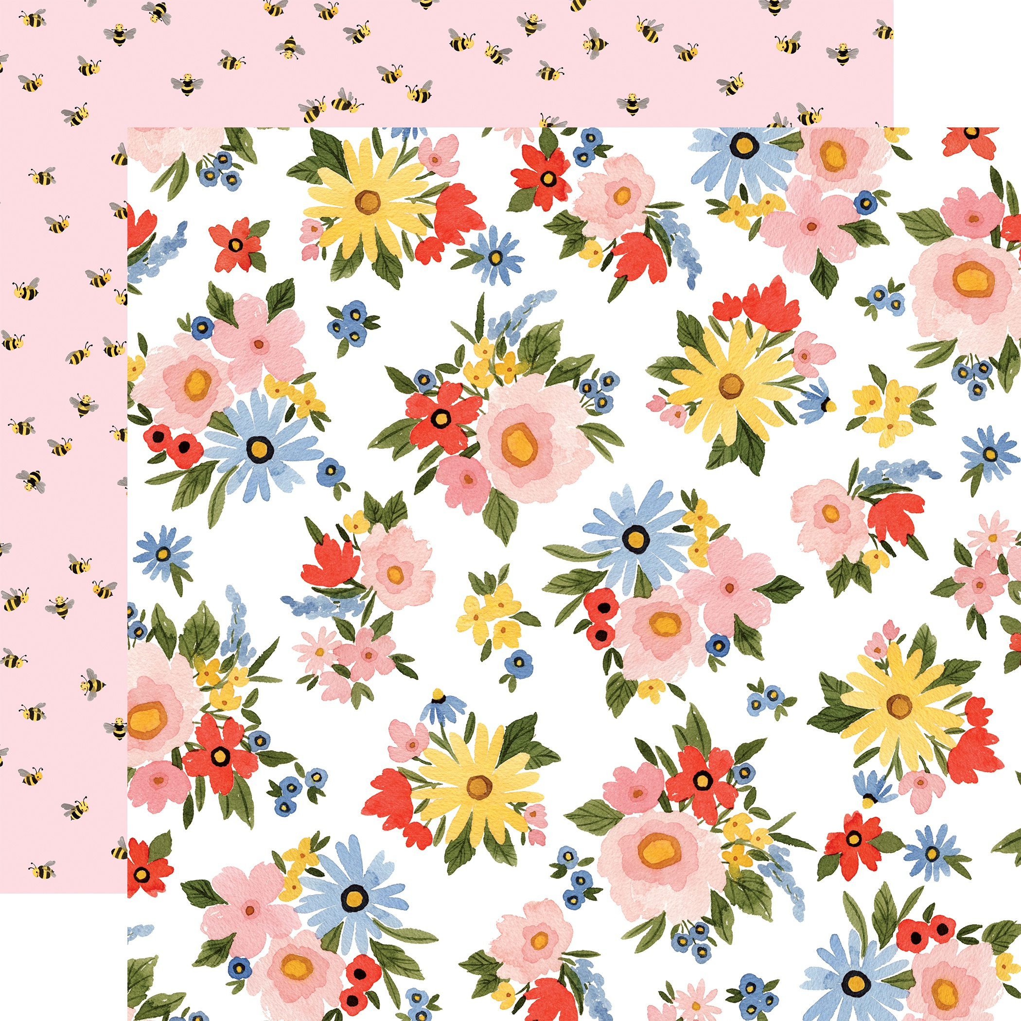 Oh Happy Day Spring Double-Sided Cardstock 12X12-Lovely Floral