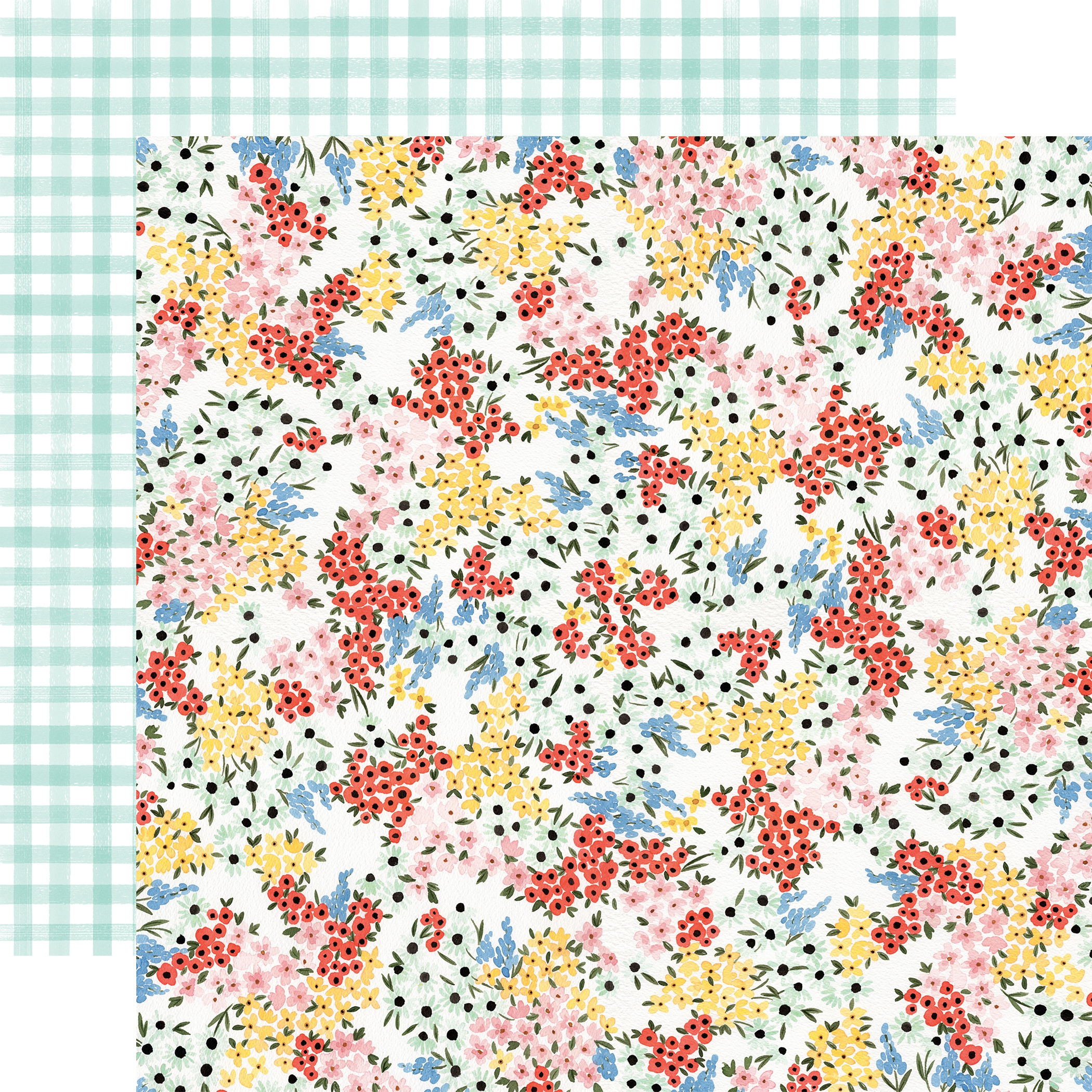 Oh Happy Day Spring Double-Sided Cardstock 12X12-Tiny Floral