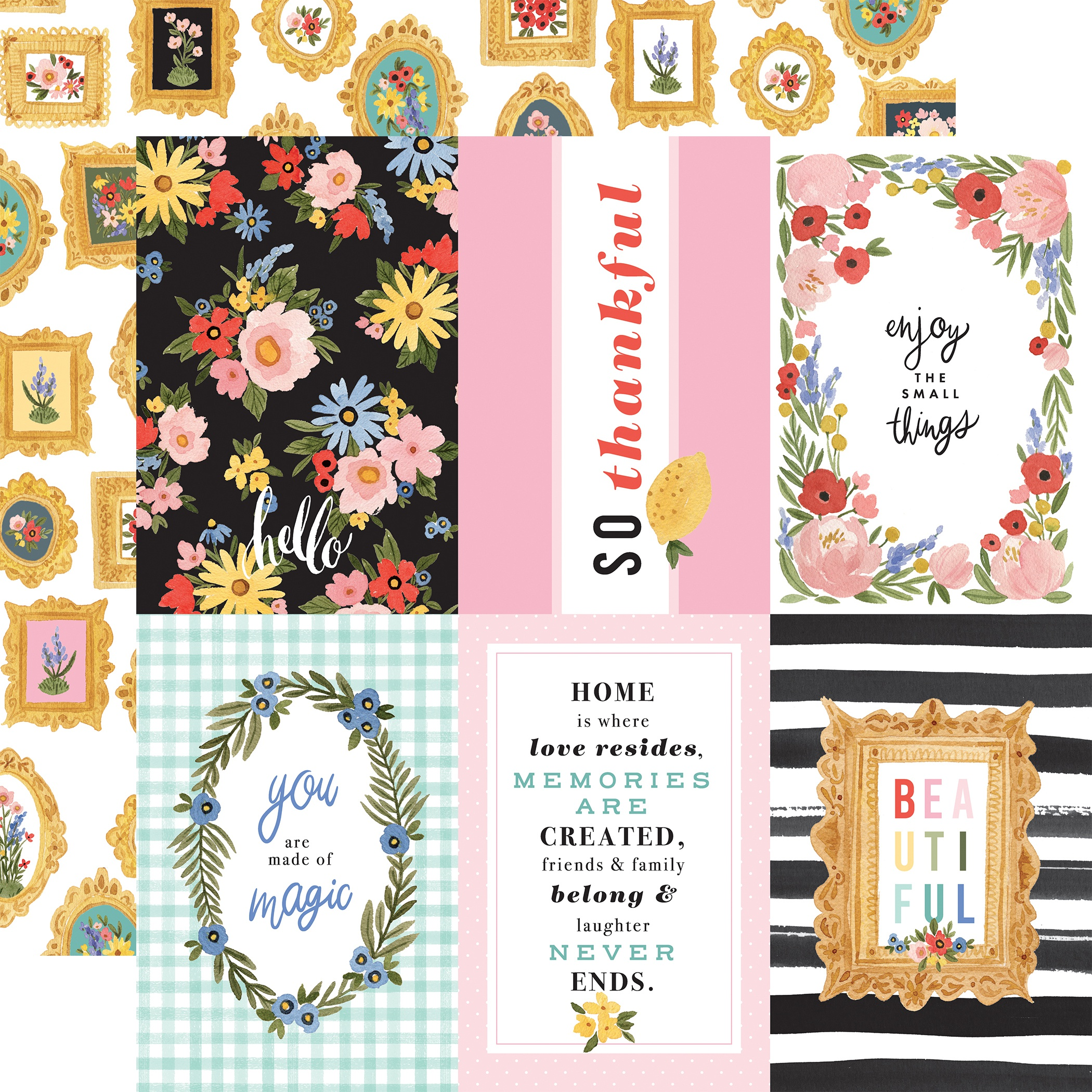 Oh Happy Day Spring Double-Sided Cardstock 12X12-4X6 Journaling Cards