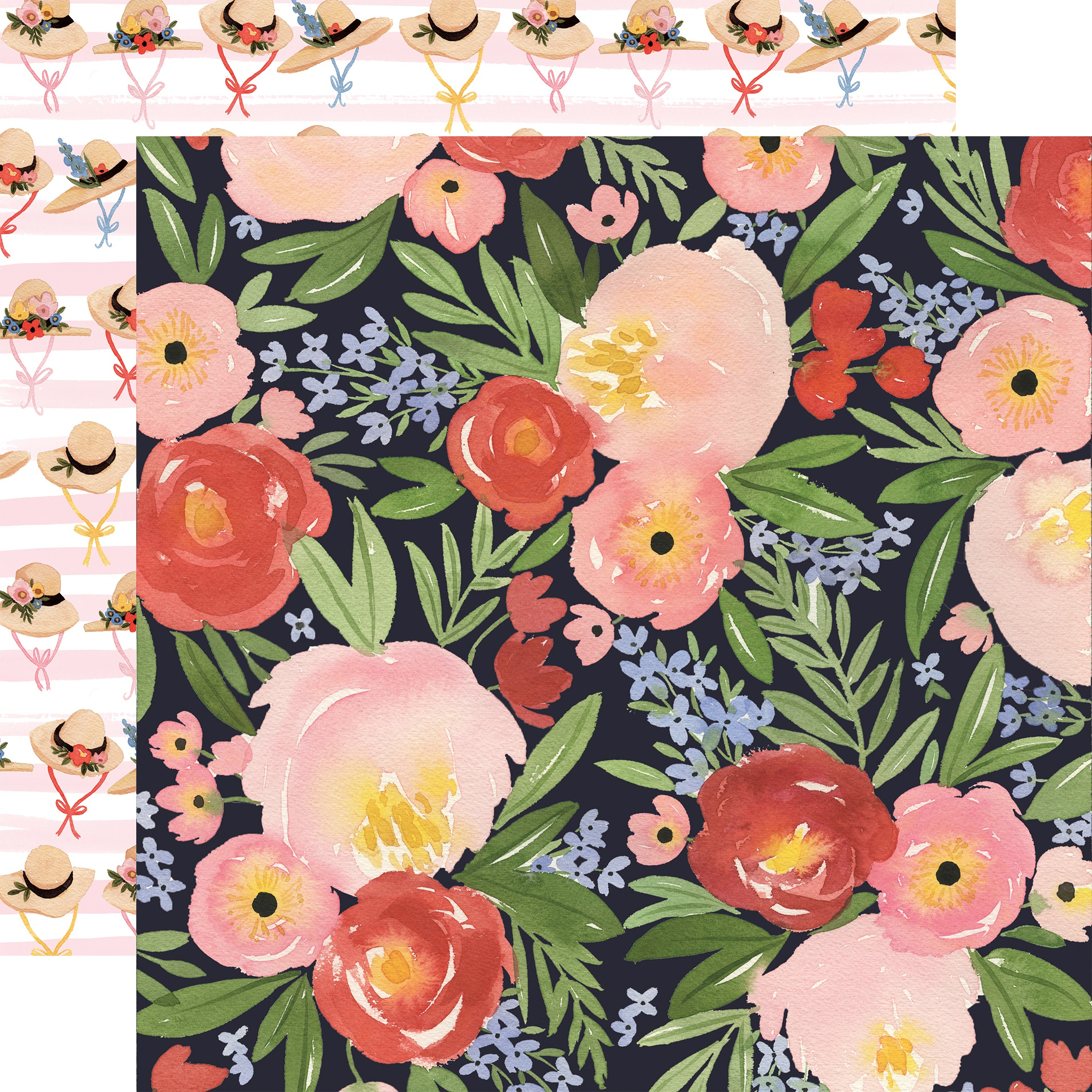 Oh Happy Day Spring Double-Sided Cardstock 12X12-Dreamy Floral