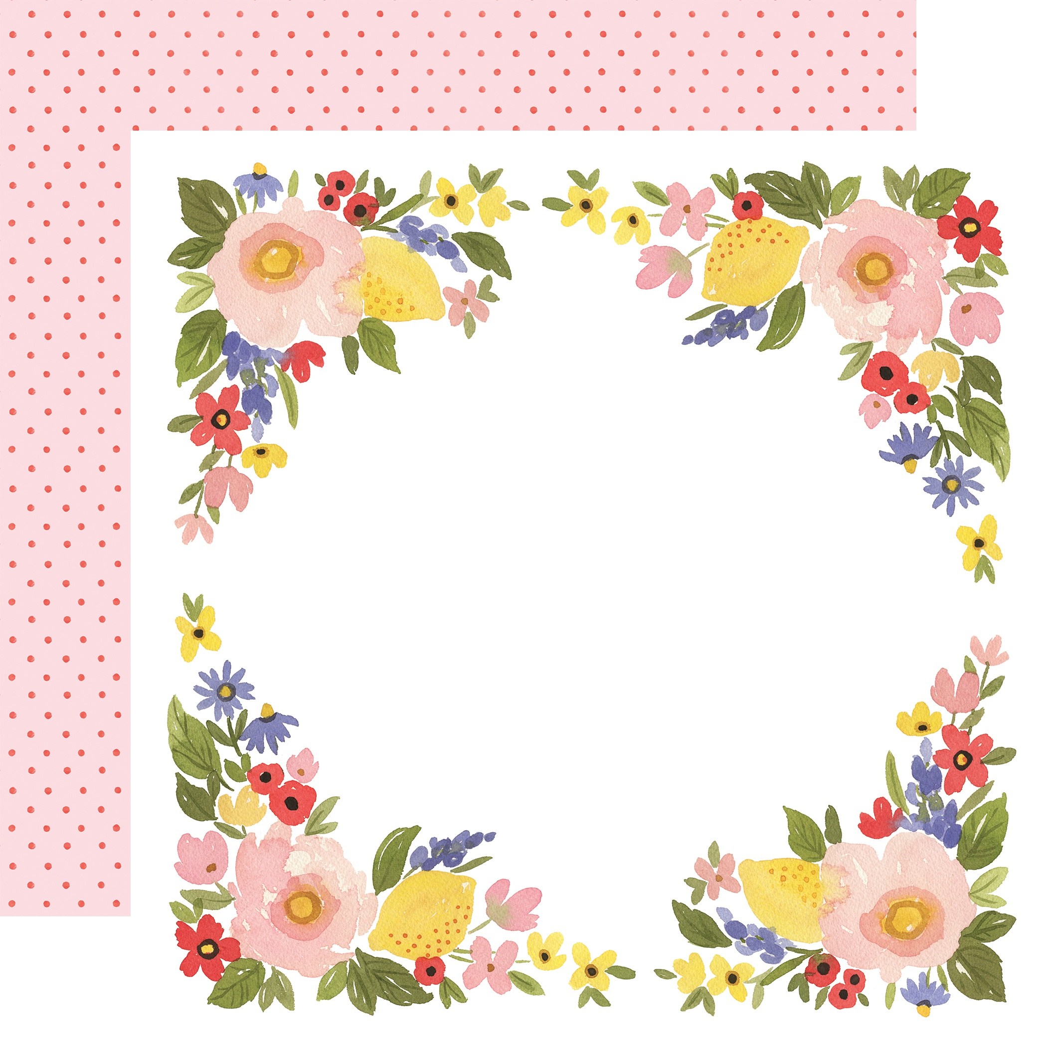 Oh Happy Day Spring Double-Sided Cardstock 12X12-Bloom Border