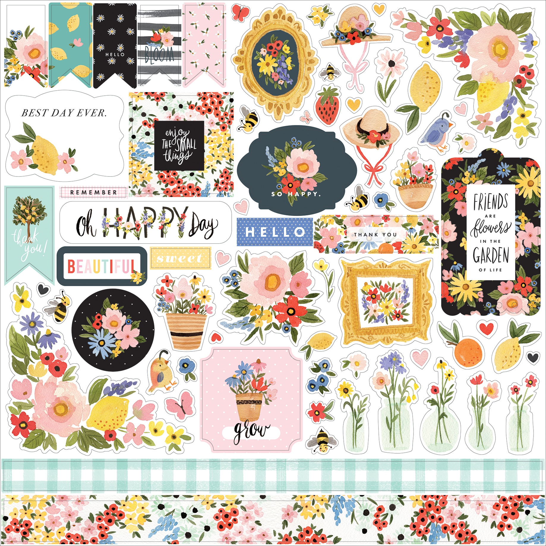 Oh Happy Day Spring Cardstock Stickers 12X12-Elements