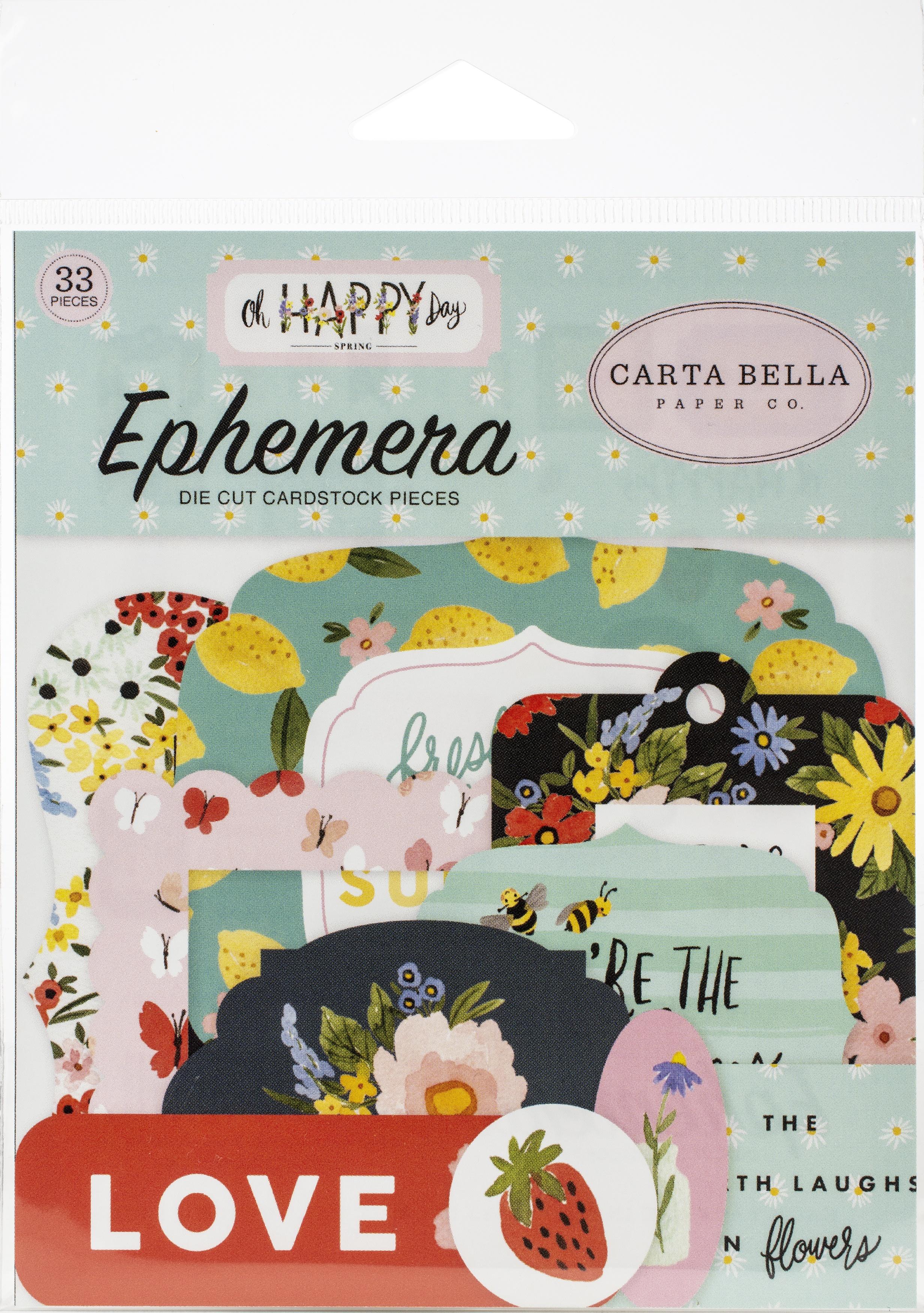 Carta Bella Cardstock Ephemera 33/Pkg-Icons, Oh Happy Day Spring