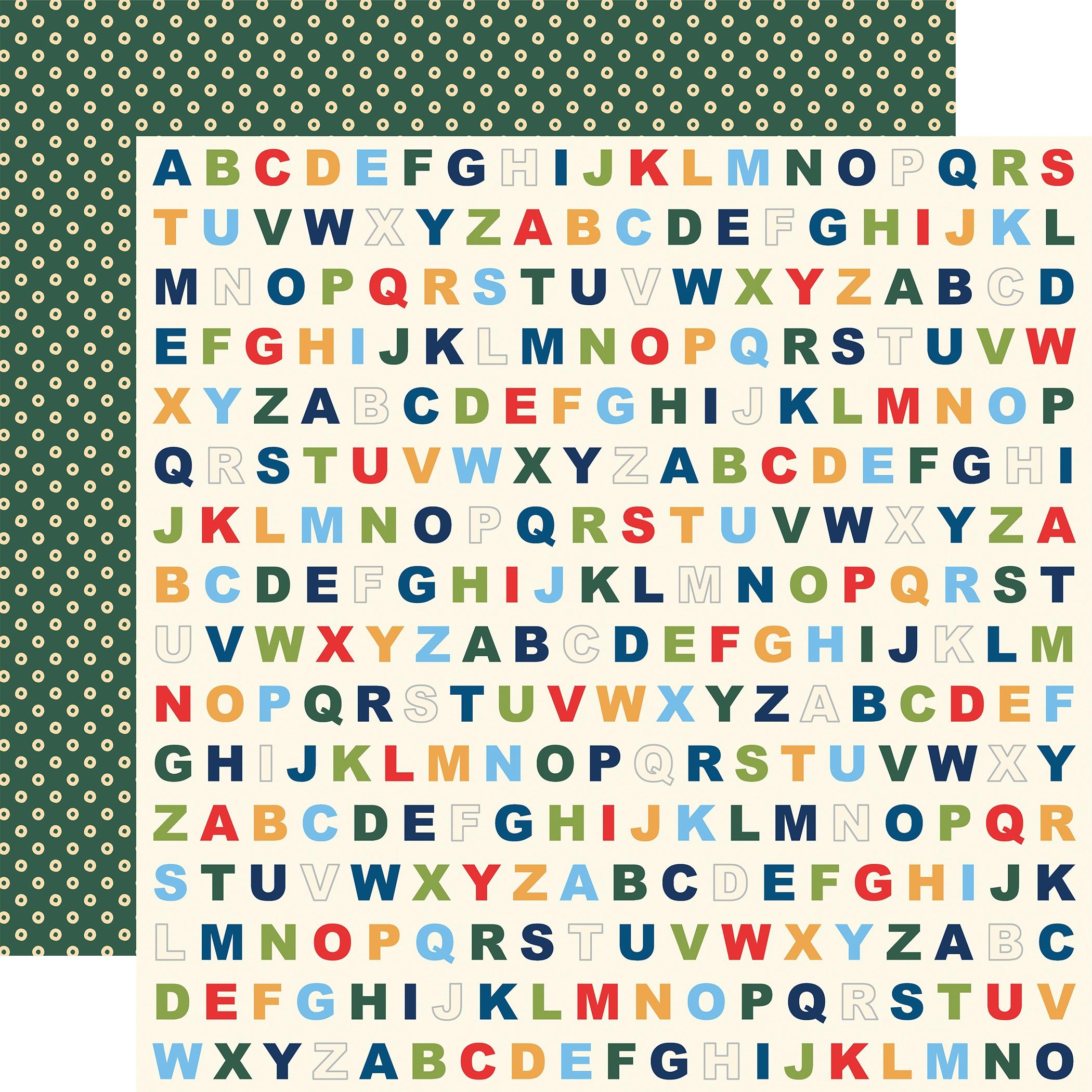 School Days Double-Sided Cardstock 12X12-Alphabet
