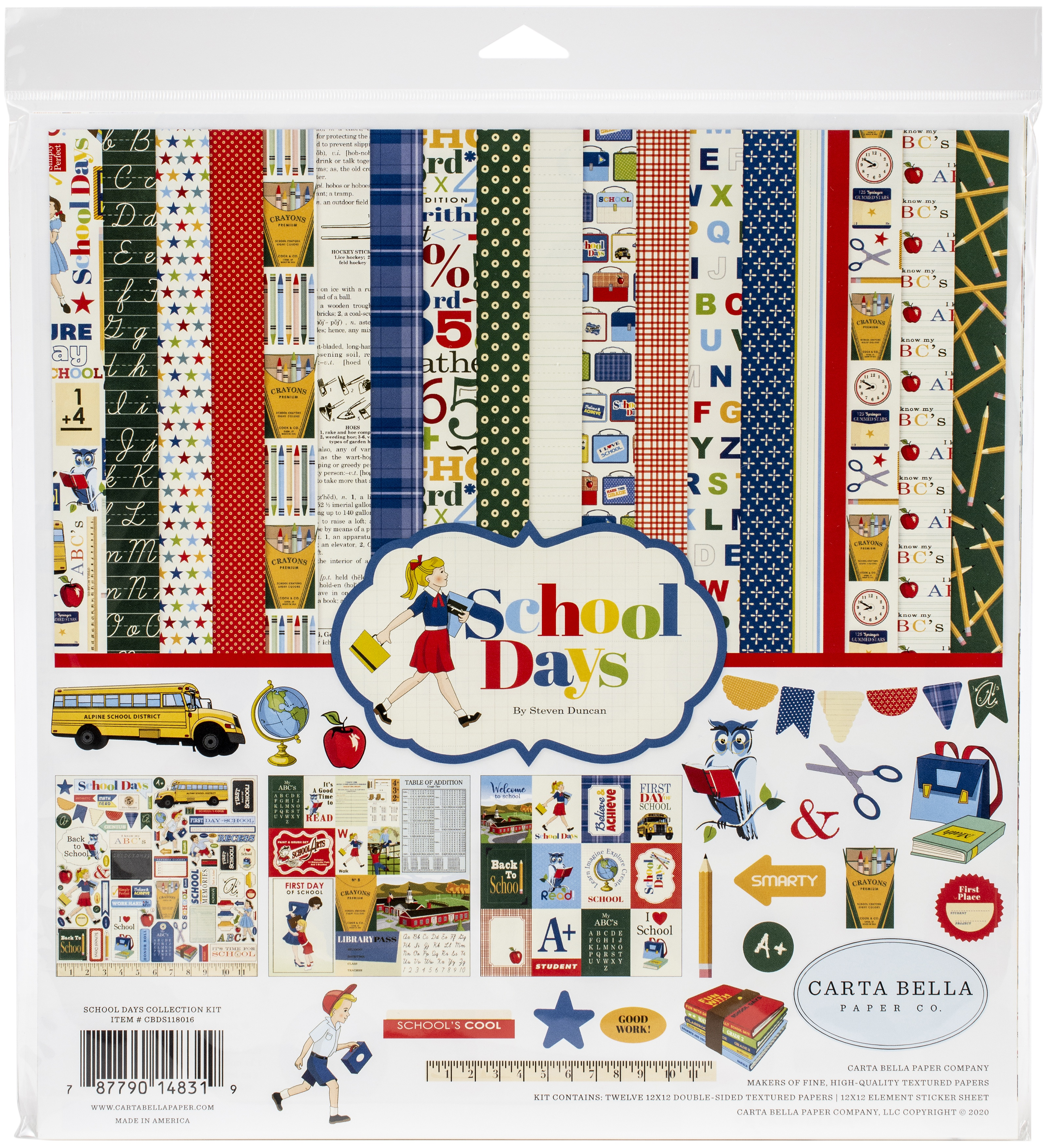 Carta Bella Collection Kit 12X12-School Days