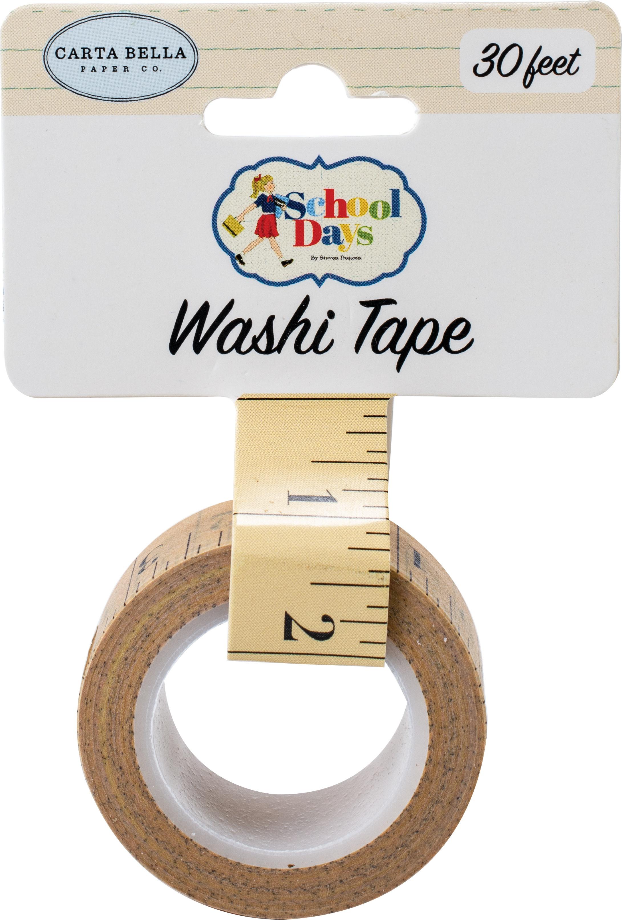 Carta Bella School Days Washi Tape 30'-Ruler