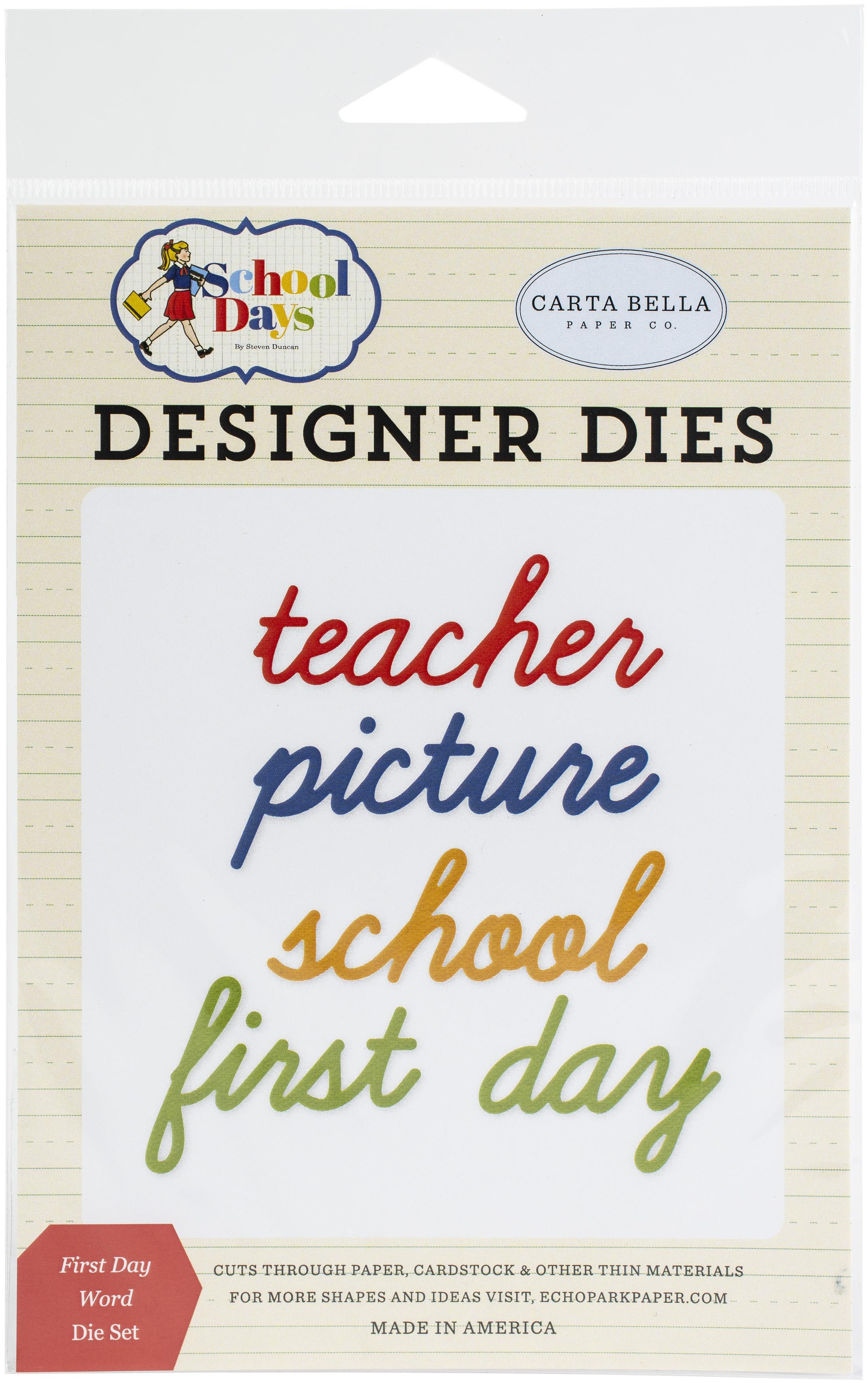 First Day, School Days Die Set