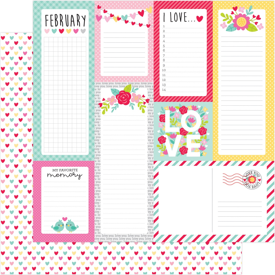 DB Paper Love Notes  Hearts