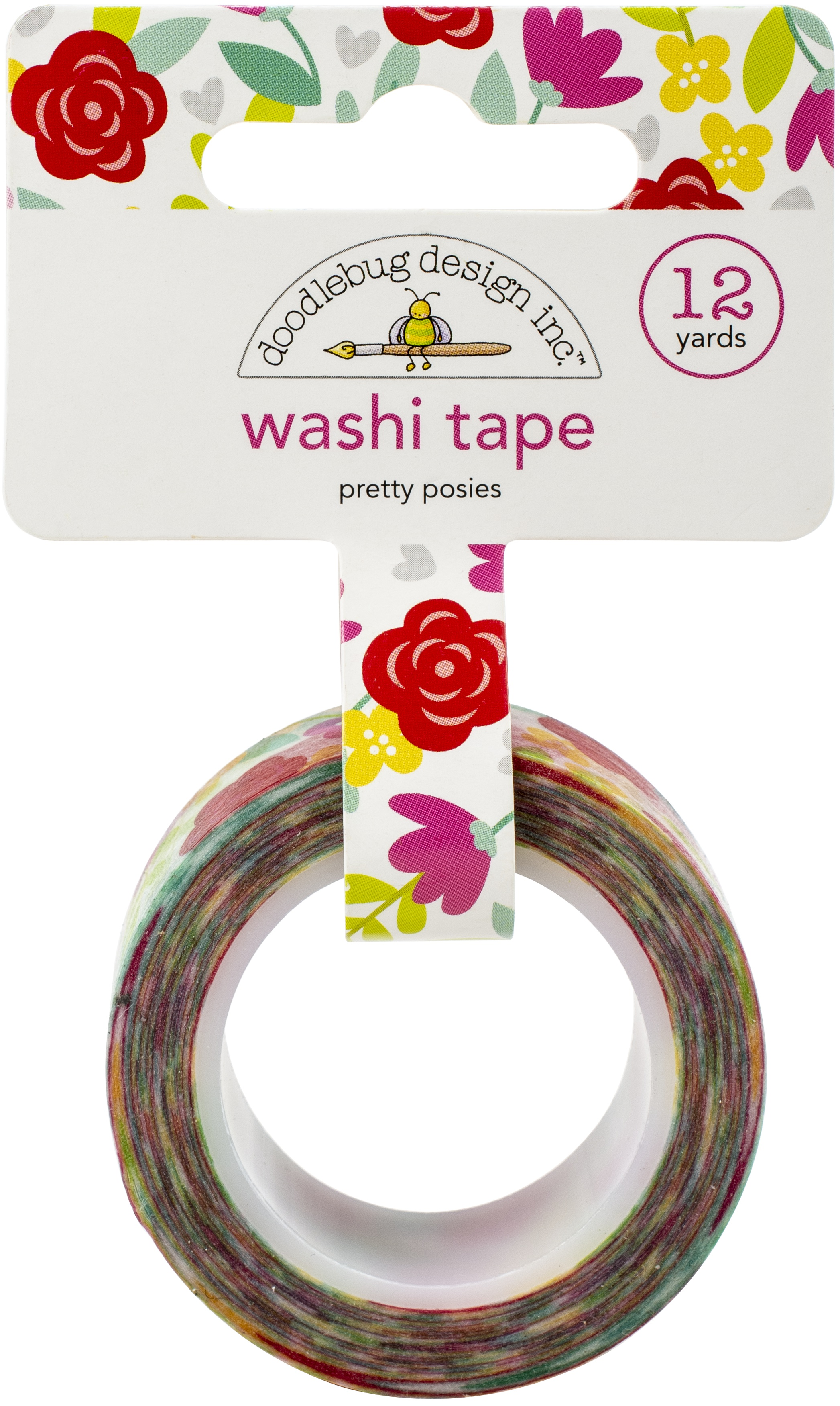 Love Notes Washi Tape 15mmX12yd-Pretty Posies